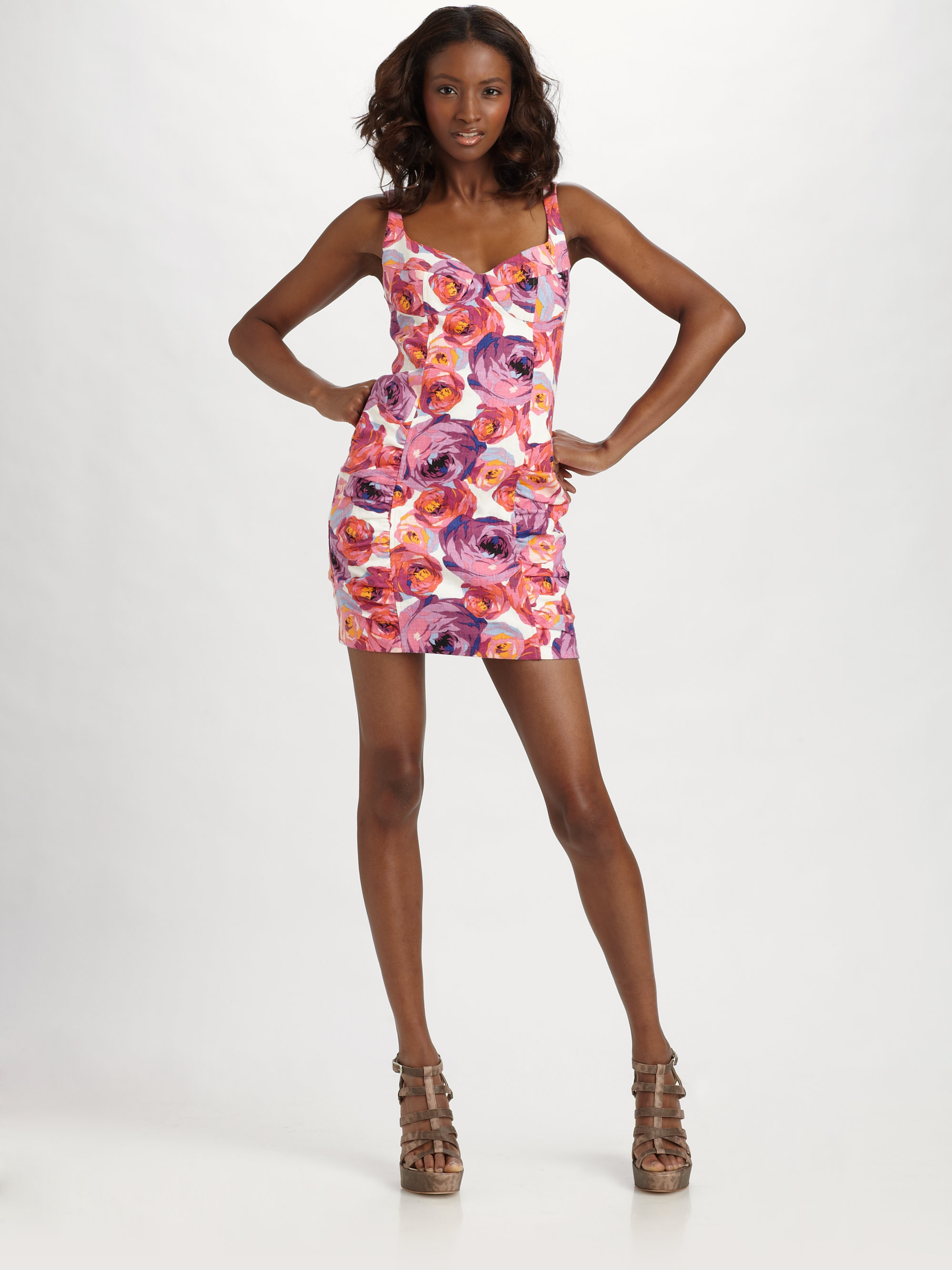 Nanette lepore Candy Girl Mini Dress in Pink