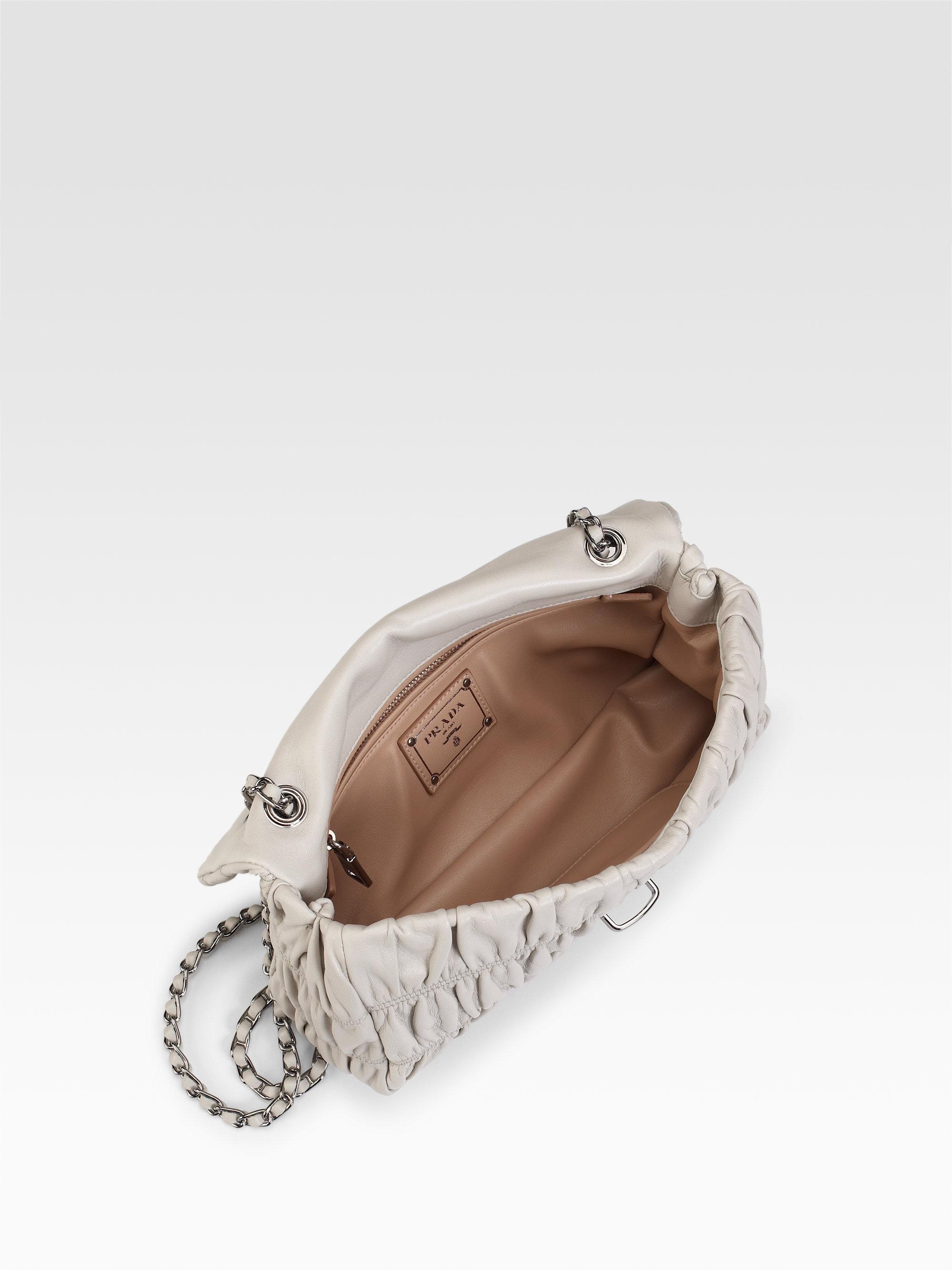 de4d8003a081 Prada Small Nappa Gaufre Mini Shoulder Bag in Black - Lyst