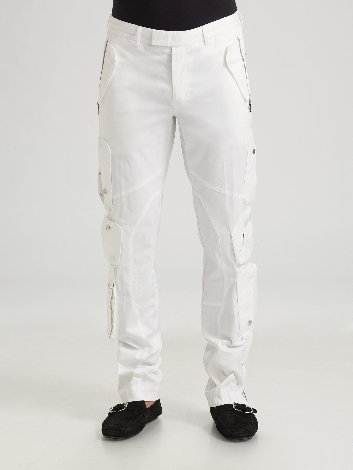 Ralph lauren black label Bond Cargo Pants in White for Men | Lyst