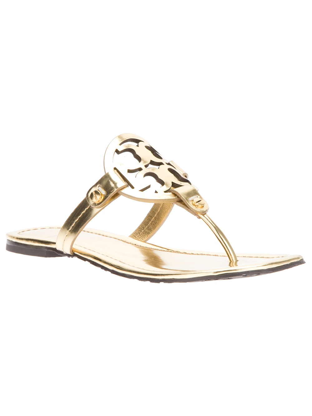 Tory Burch Miller Sandals In Gold Lyst