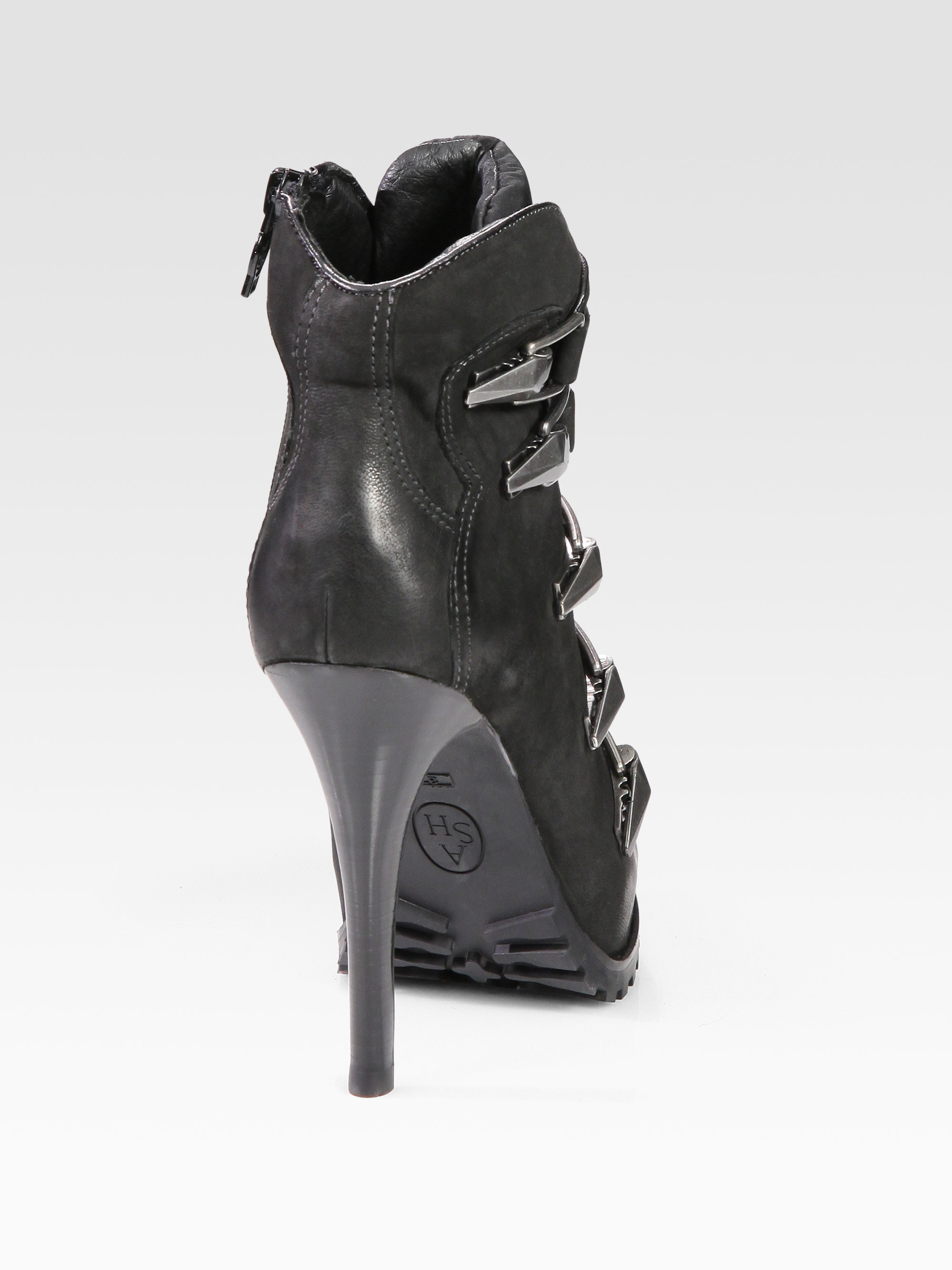 d2861f15897 Lyst - Ash Extreme Leather Buckle Ankle Boots in Black