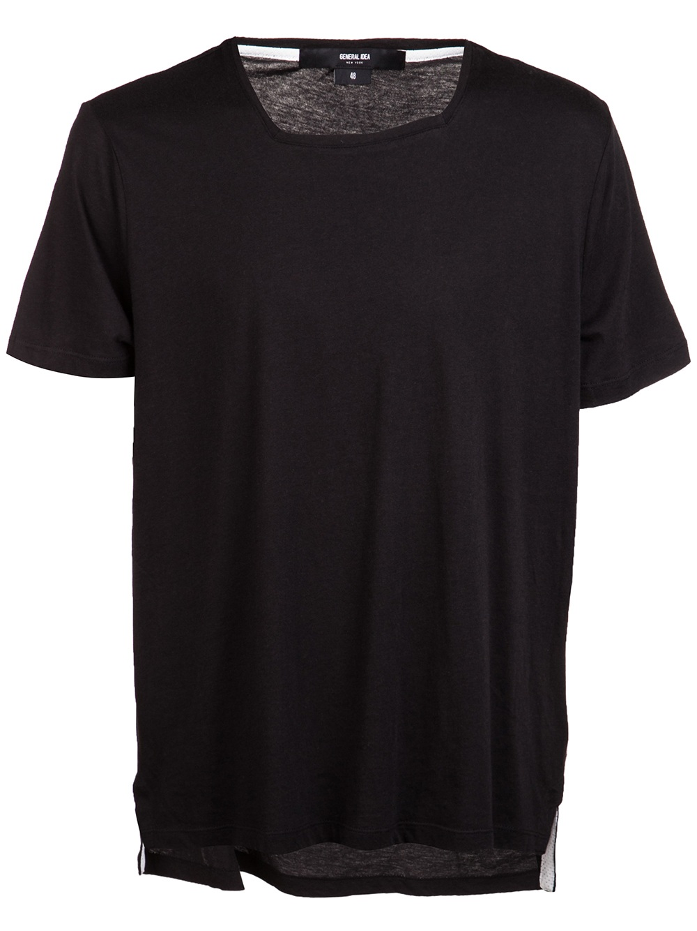 general idea square collar tshirt in black for men lyst