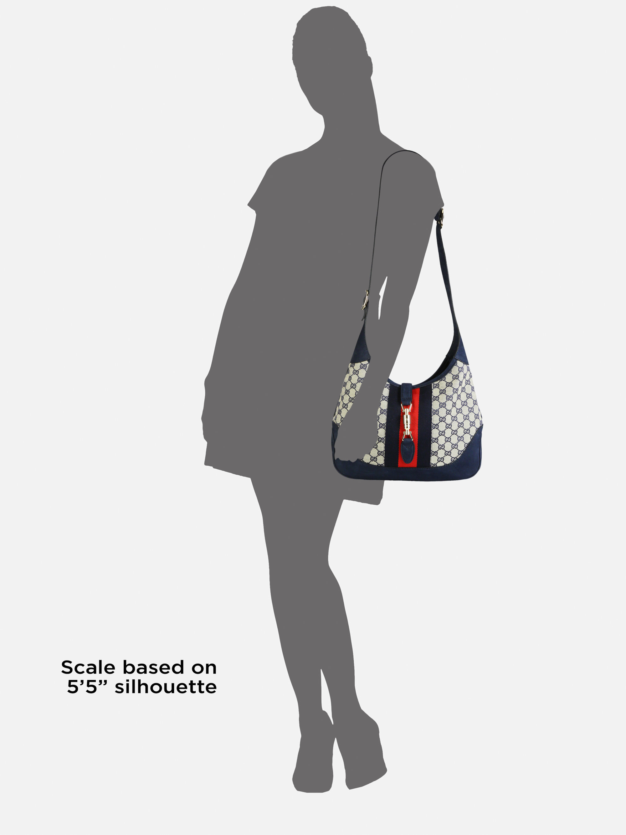 f63c554b72da Lyst - Gucci Jackie Original Gg Canvas Shoulder Bag in Gray