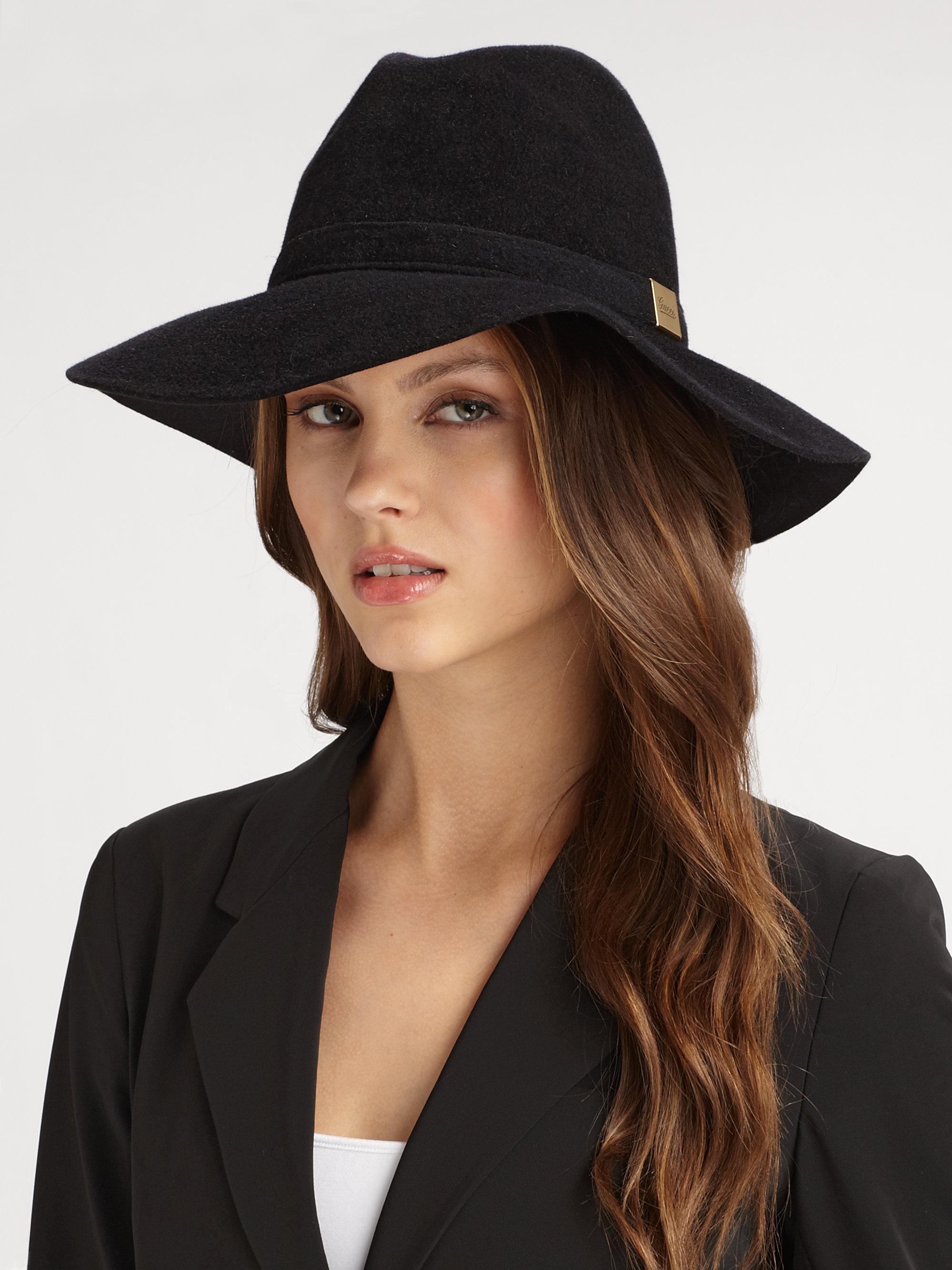 aac52d15f338b Lyst - Gucci Trilby Floppy Hat in Black