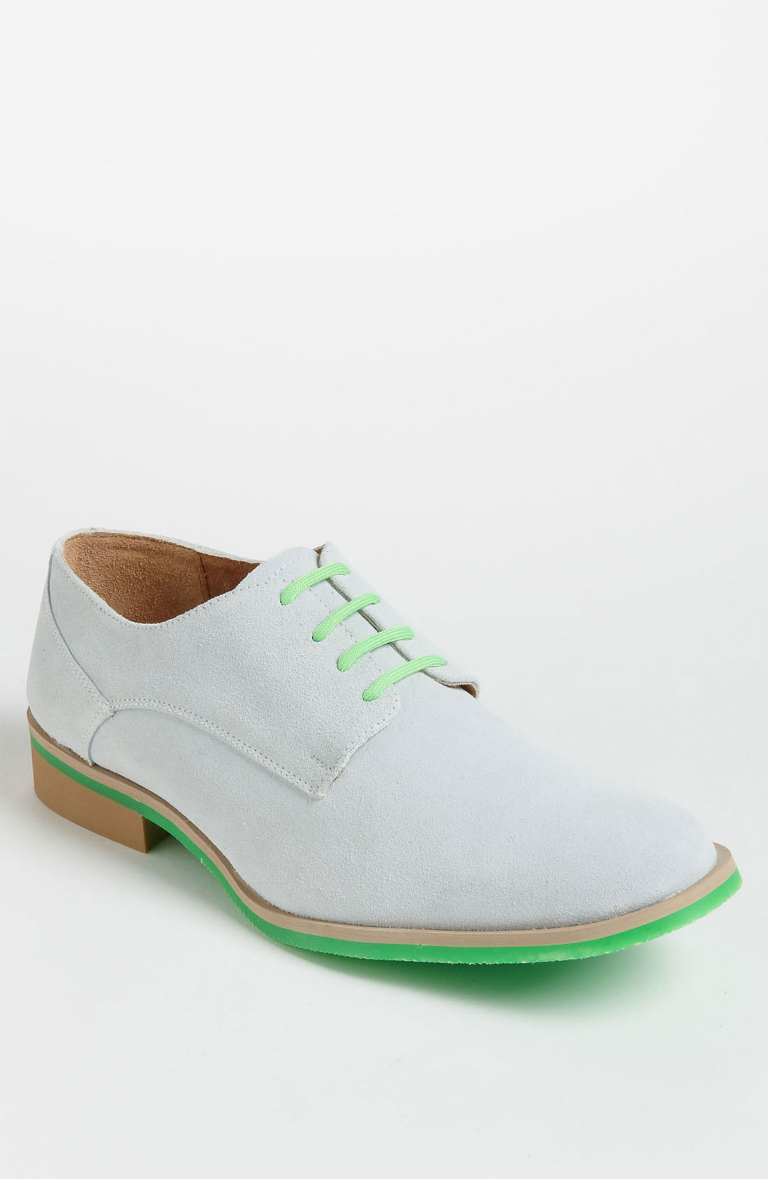 jd fisk callum suede buck shoe in green for white