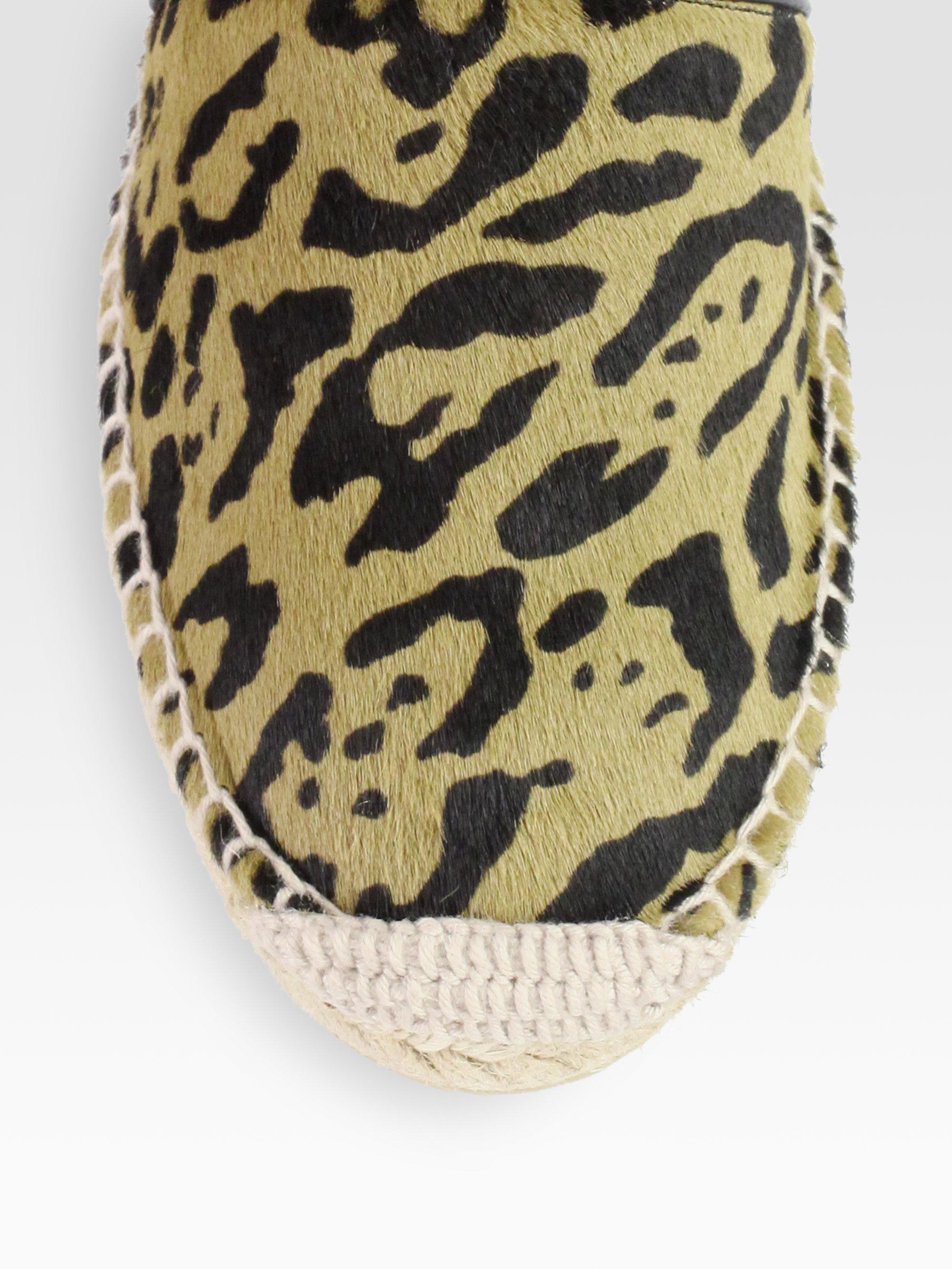 lyst jimmy choo gaine leopardprint pony hair espadrille. Black Bedroom Furniture Sets. Home Design Ideas
