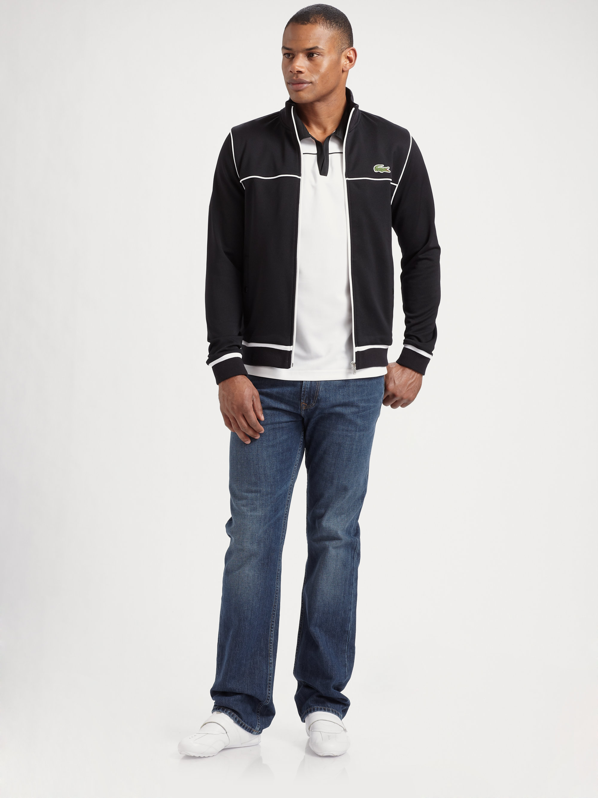 a9e32d1edeabb5 Lyst - Lacoste Andy Roddick Superdry Track Jacket in White for Men