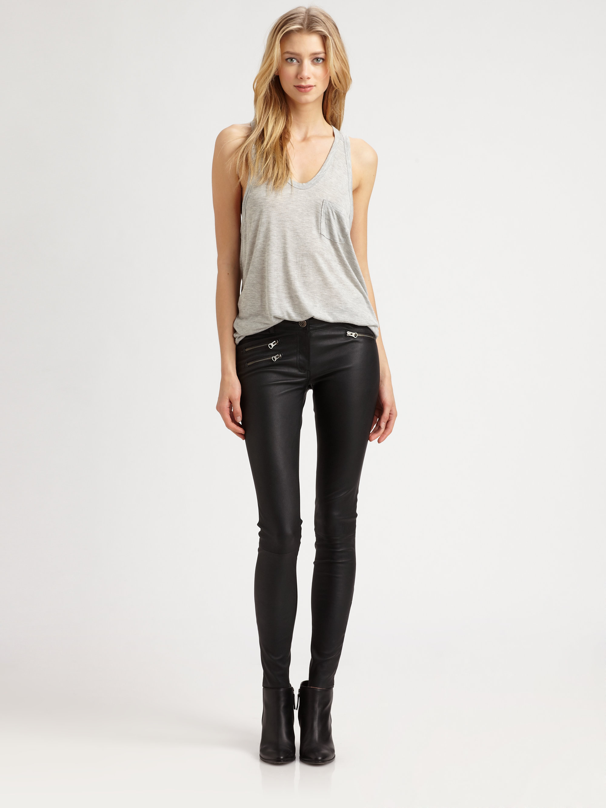 Lyst - Mackage Miki Stretch Leather Pants in Black