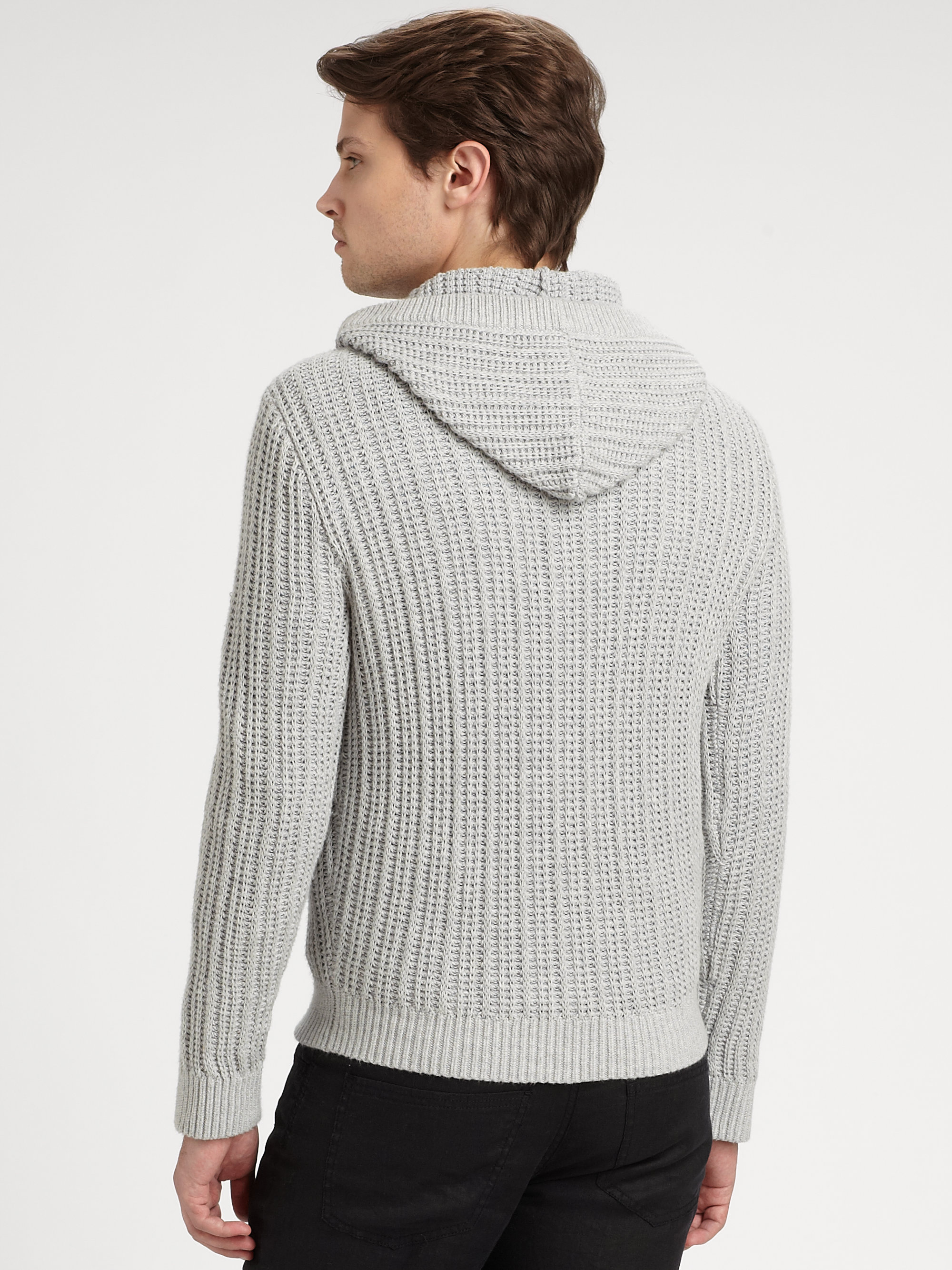 Michael kors Ribbed Pullover Sweater in Gray for Men | Lyst