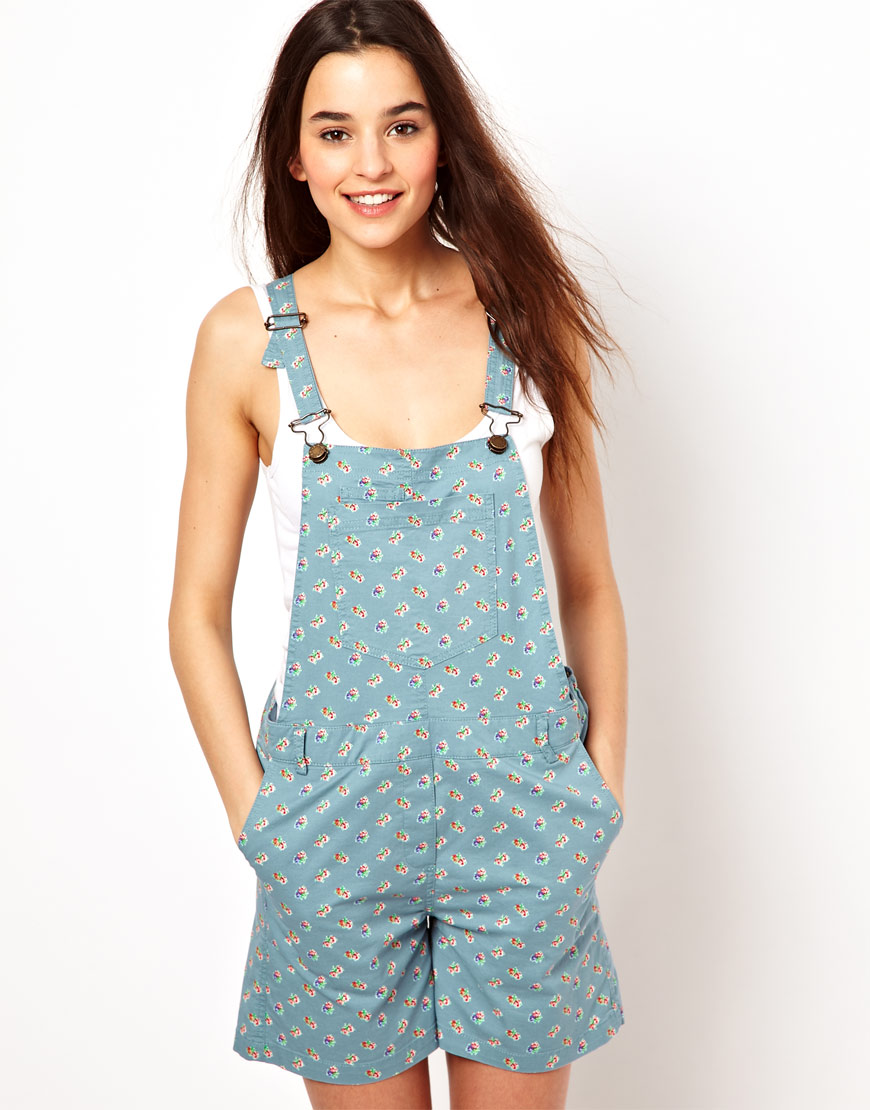 Blue Joe Floral And Dungarees In Lyst Paulamp; Sister lcK1FJ