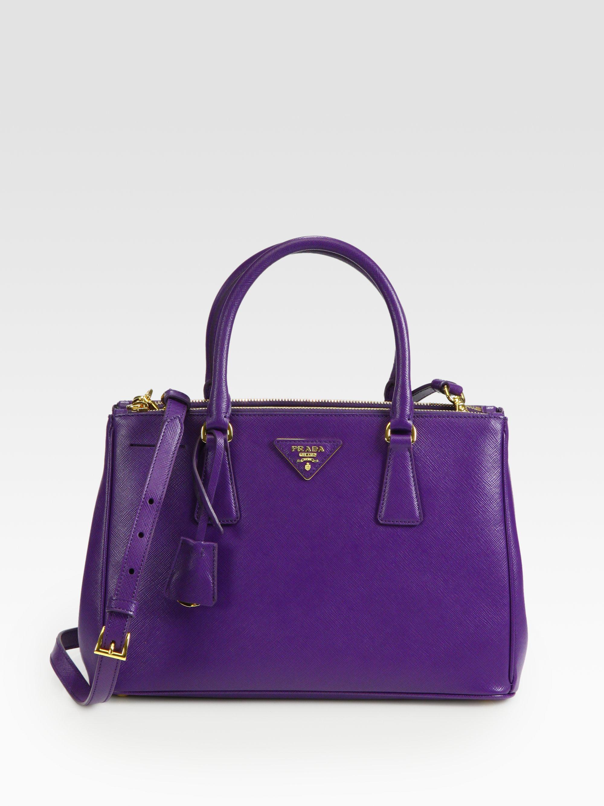13876a9ffdbd ... closeout lyst prada saffiano lux small tote in purple fea8a c777b