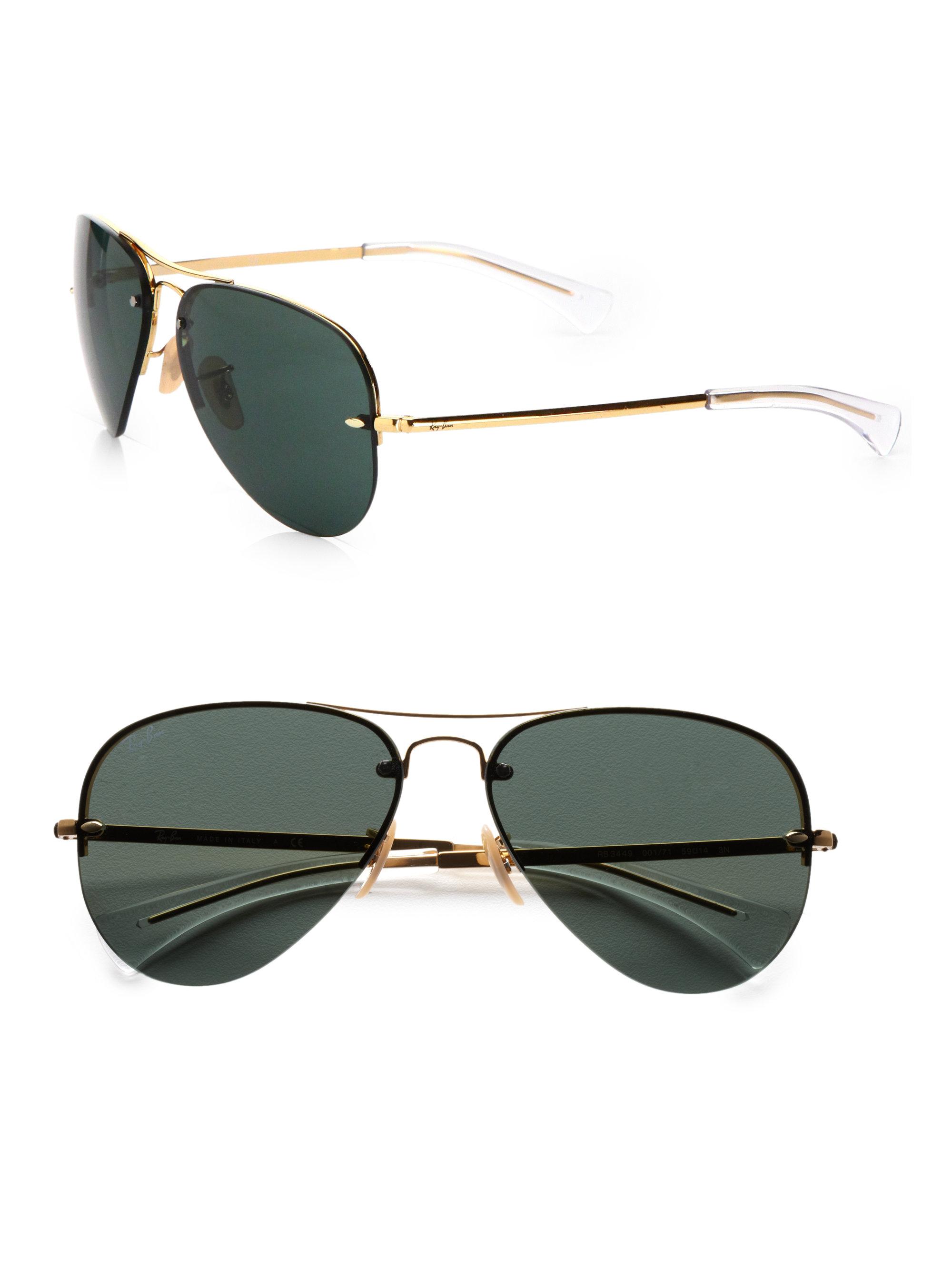Ray Ban Metal Aviator Sunglasses  ray ban metal aviator sunglasses in metallic for men lyst