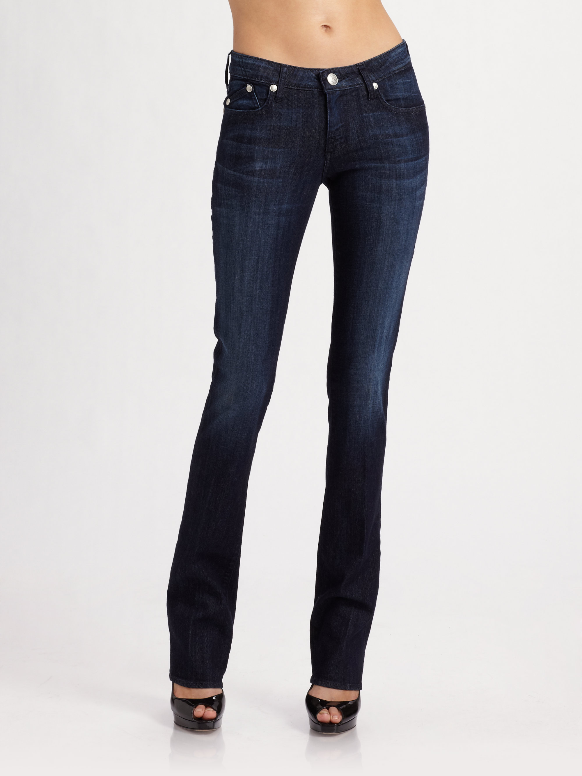 Rock Amp Republic Abigail Baby Bootcut Jeans In Blue Emerge