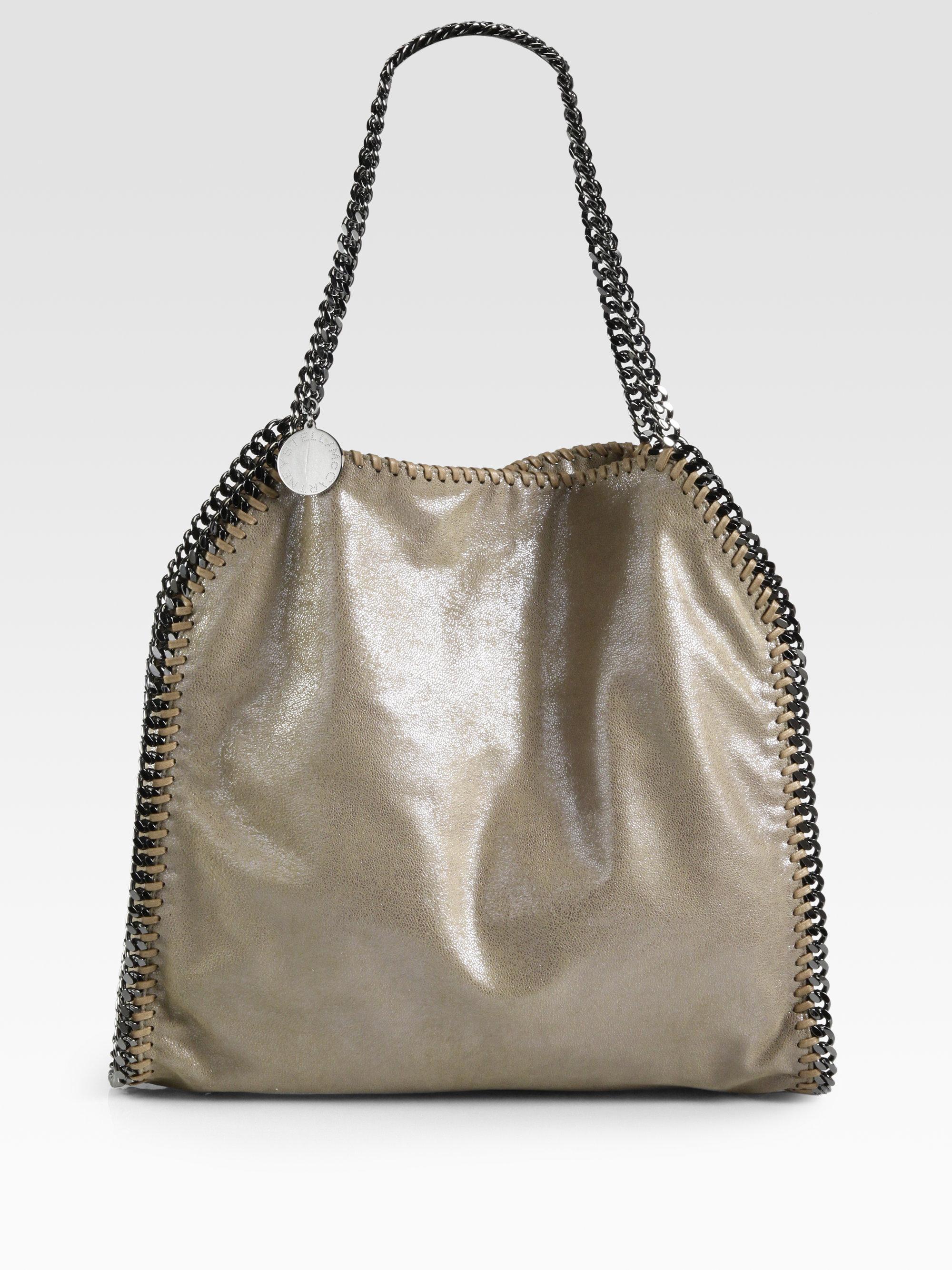 stella mccartney baby bella shoulder bag in brown redwood lyst. Black Bedroom Furniture Sets. Home Design Ideas