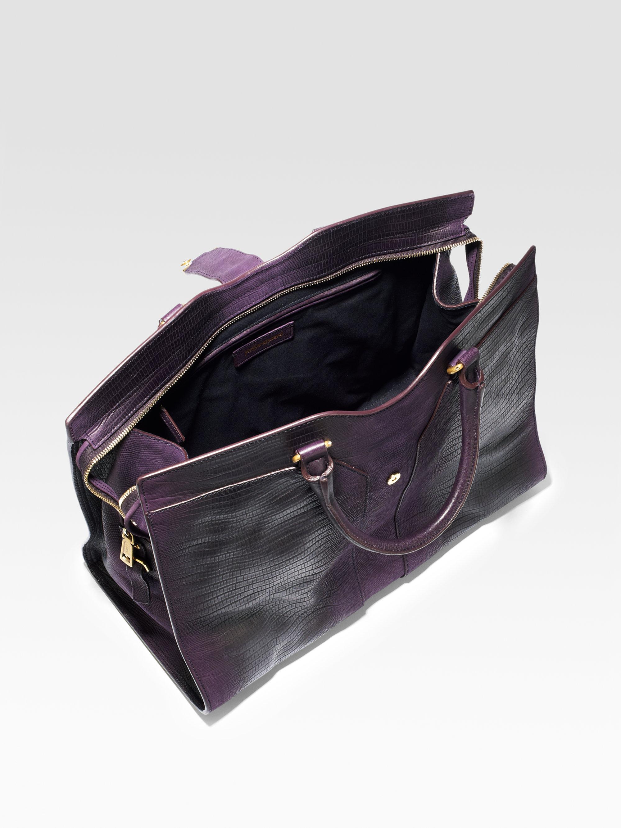 ysl medium chyc shoulder bag - Saint laurent Ysl Cabas Chyc Lizard Embossed Leather Top Handle ...