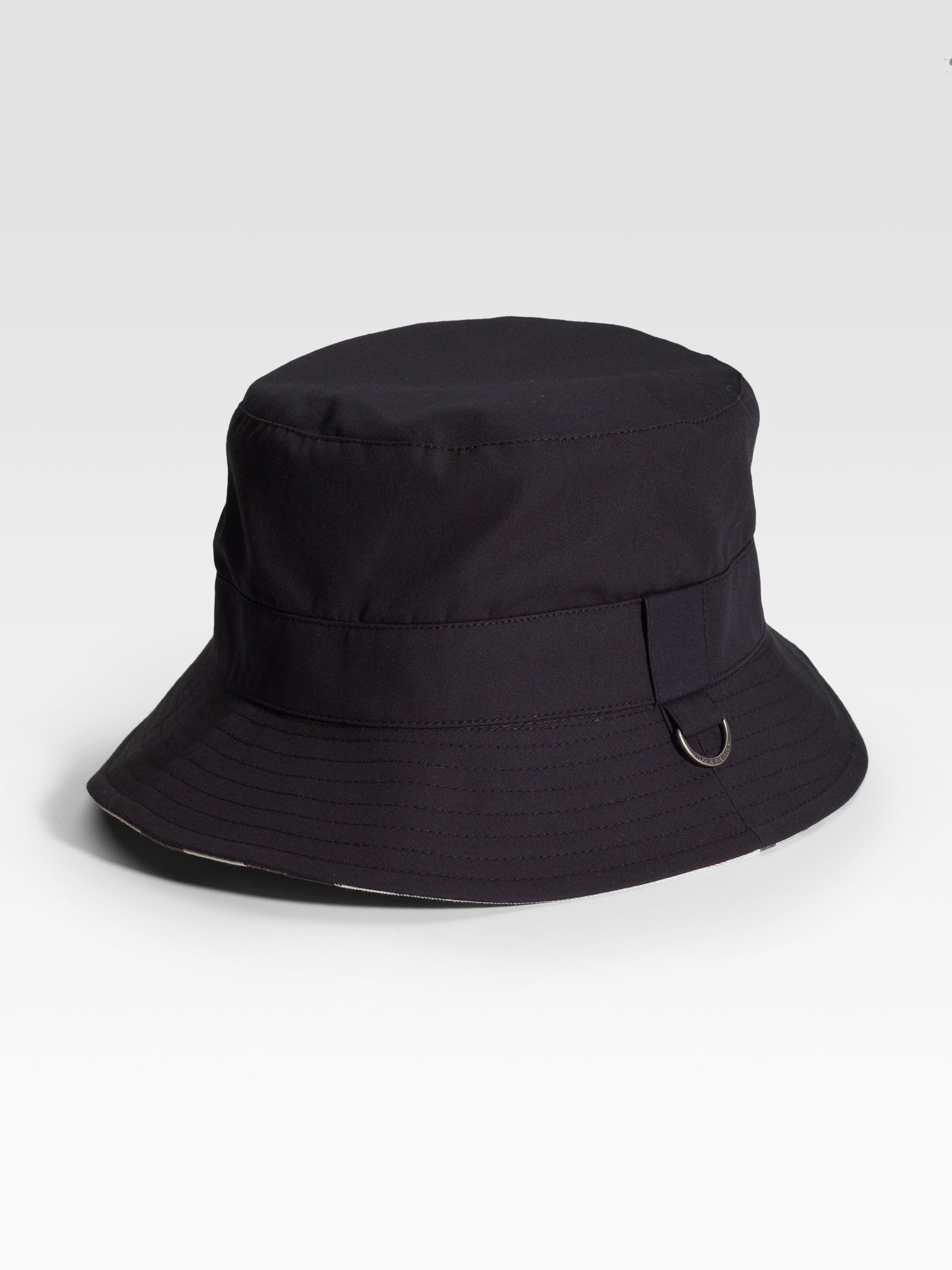 e2726a783b3 Lyst - Burberry Bucket Hat in Black for Men