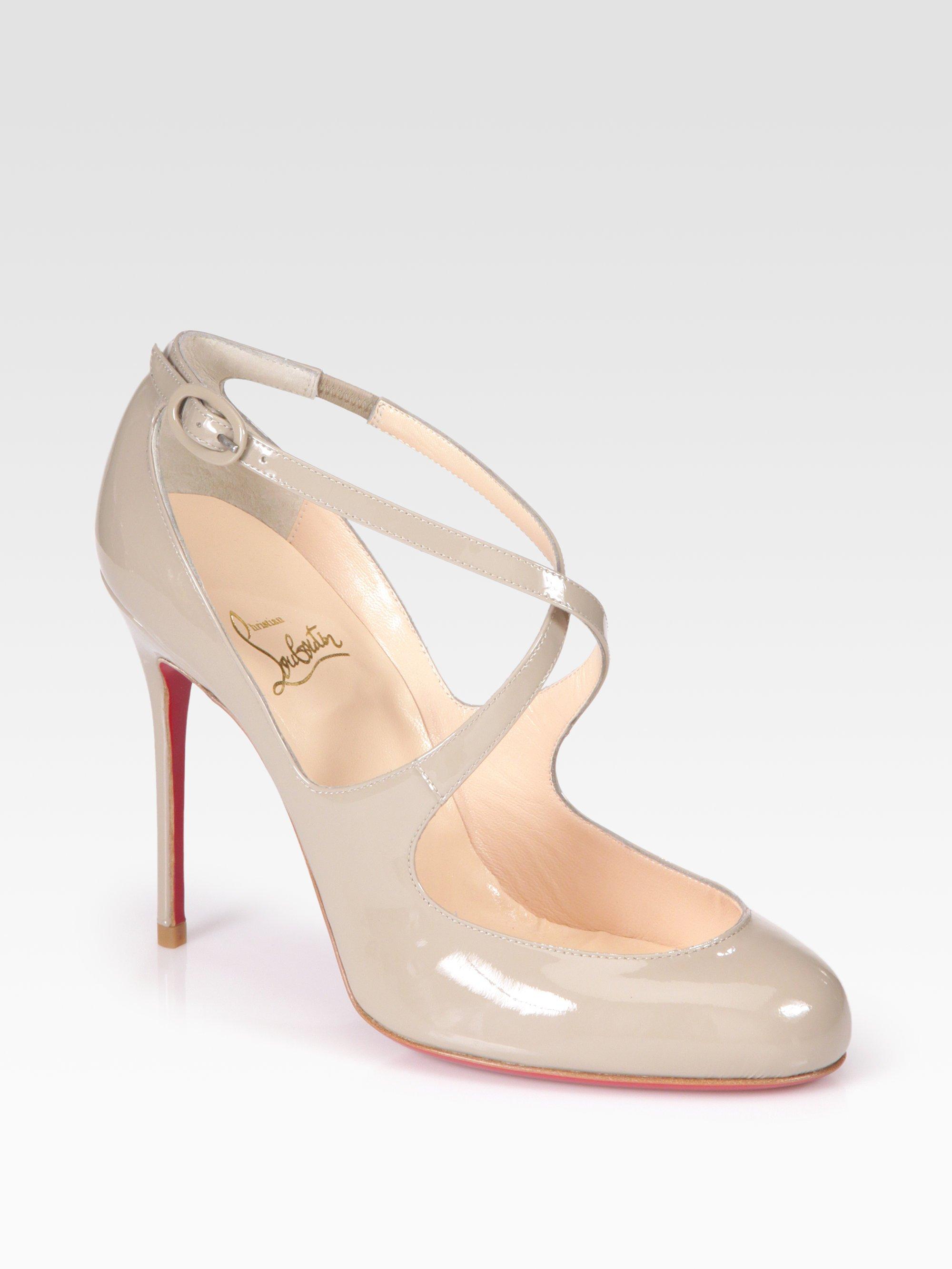 christian louboutin leather platform mary jane pumps