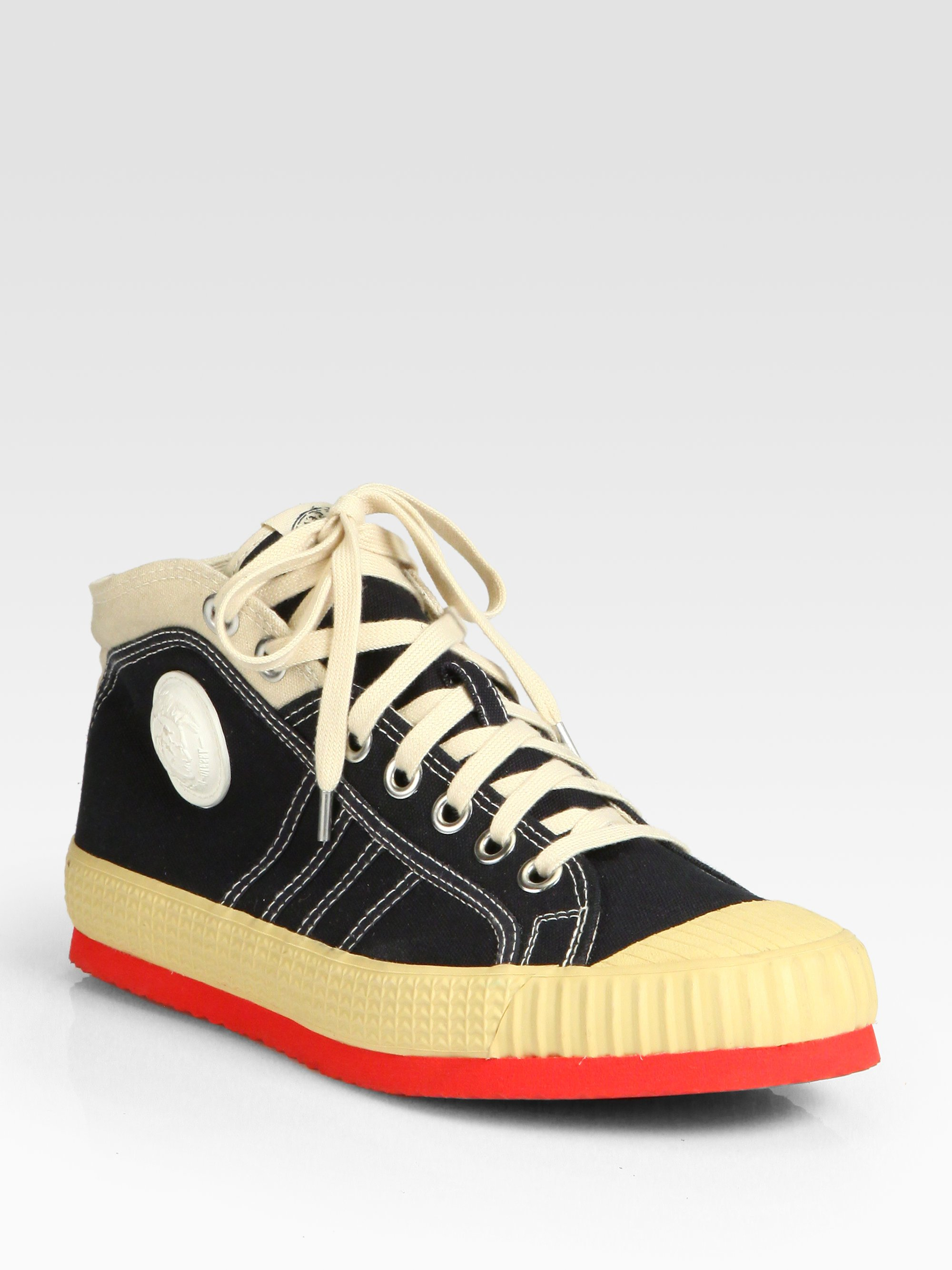 Rubber Rings For Men >> Lyst - Diesel Yuk Anniversary Sneakers in Black for Men