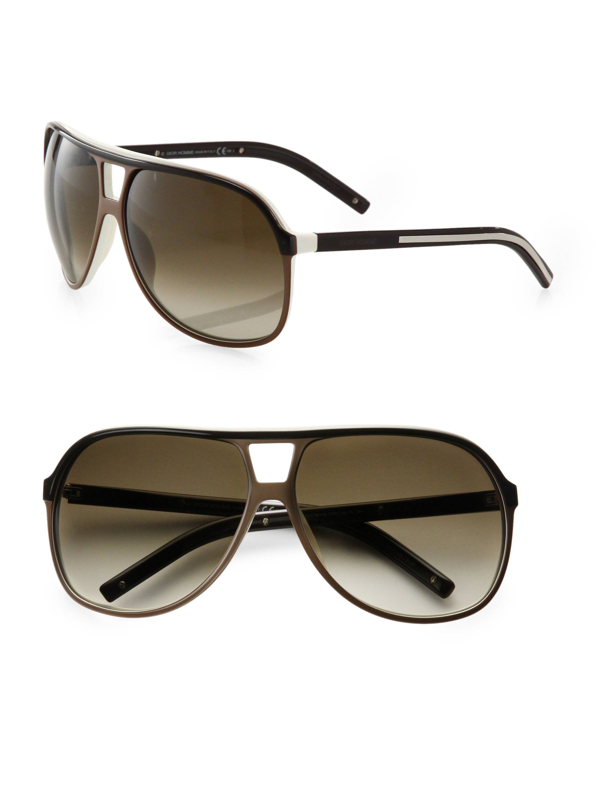 Dior Mens Sunglasses  dior homme acetate aviator shield sunglasses in black for men lyst