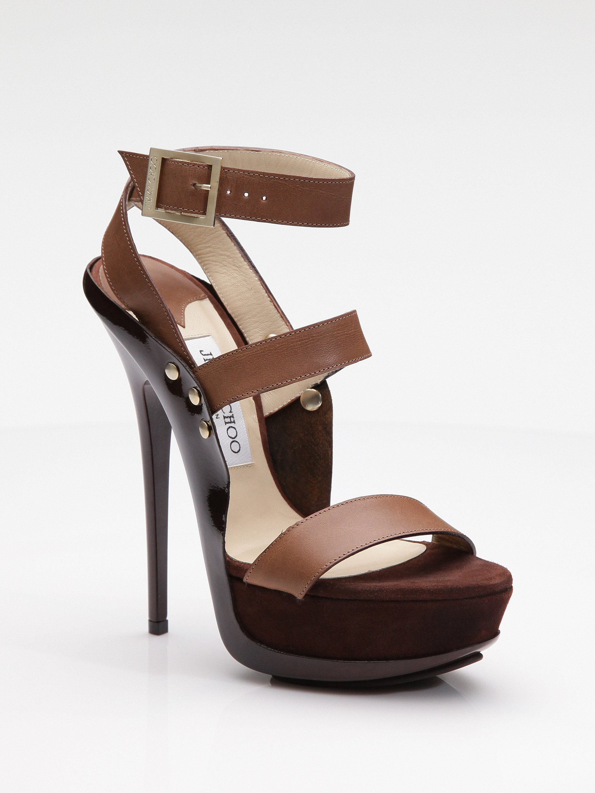 5673a55c0da Lyst - Jimmy Choo Halley Platform Sandals in Brown