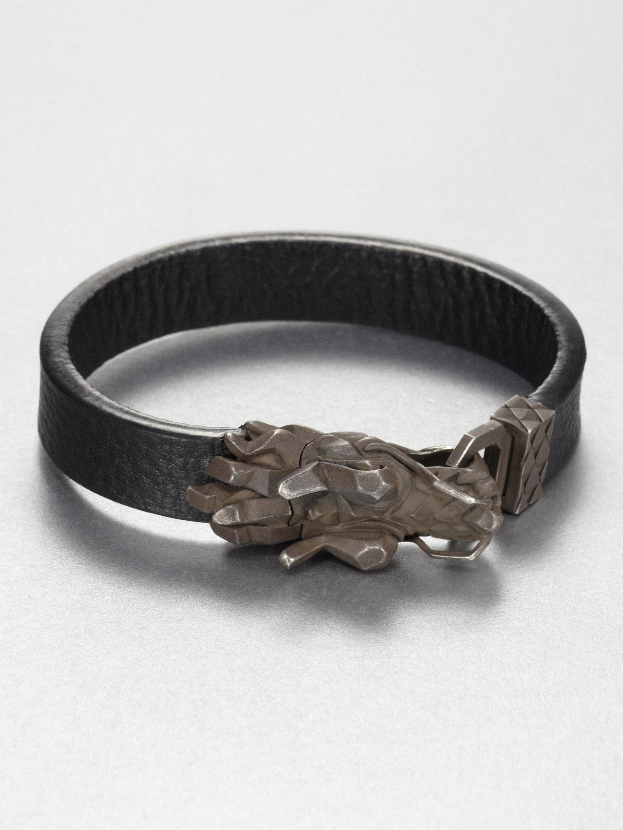 Lyst John Hardy Dragon Head Bracelet In Metallic For Men