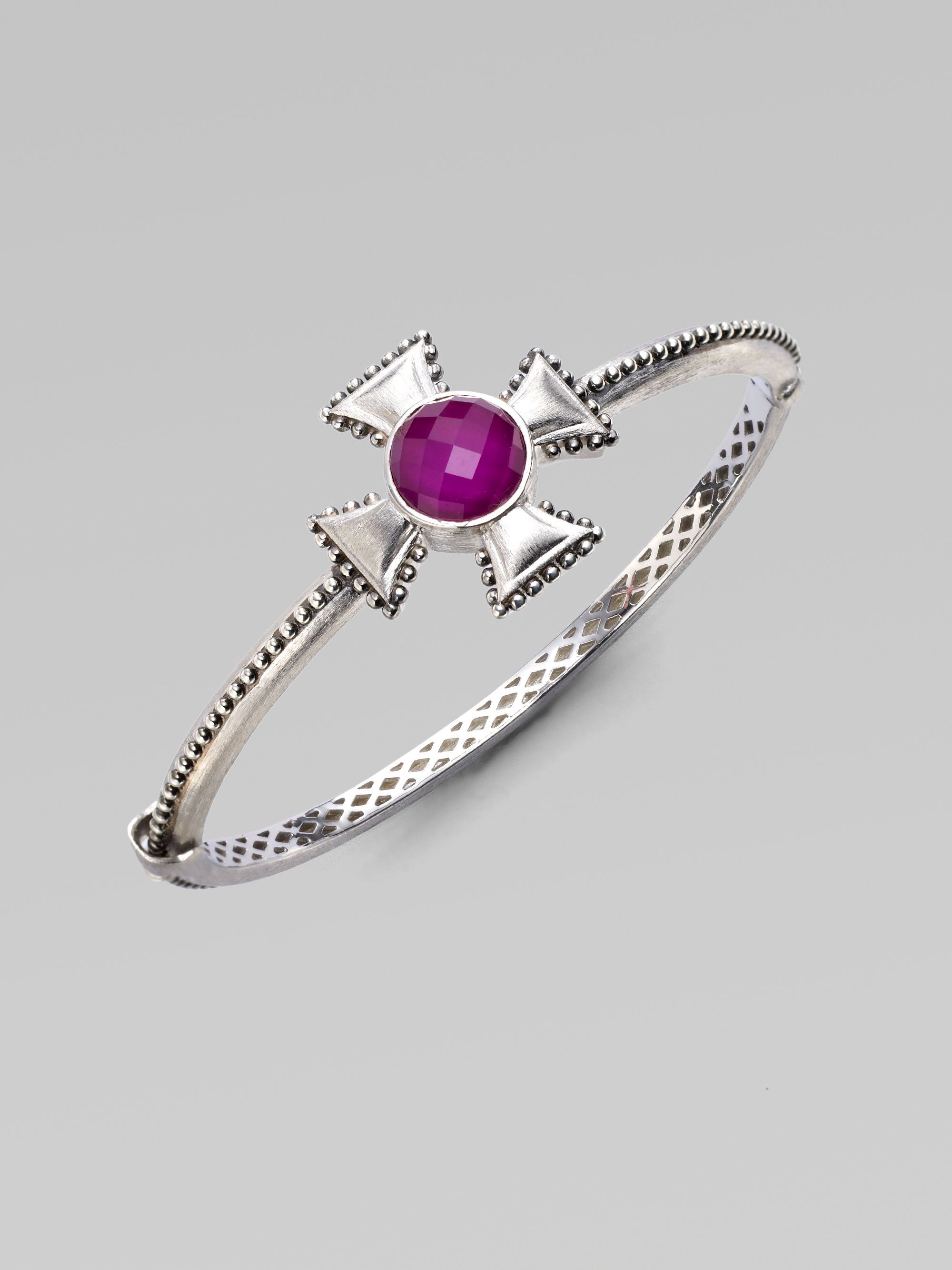 bangles gallery set sterling silver in color jewelry bracelet amethyst classics with metallic bangle david lyst yurman product
