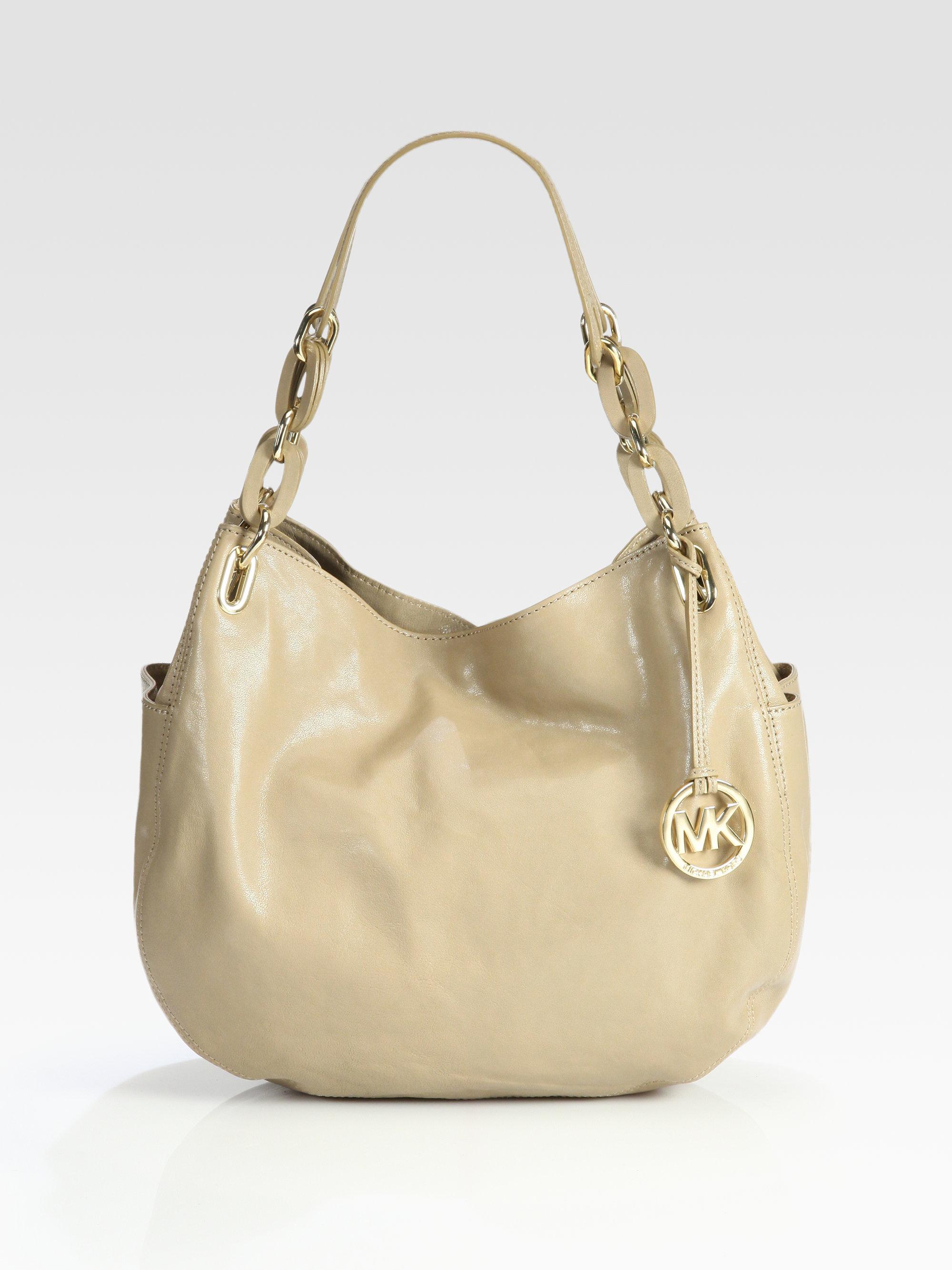 90b7b1bc42a4 ... ireland lyst michael michael kors lilly medium leather shoulder bag in  natural 3d33c 3ec20