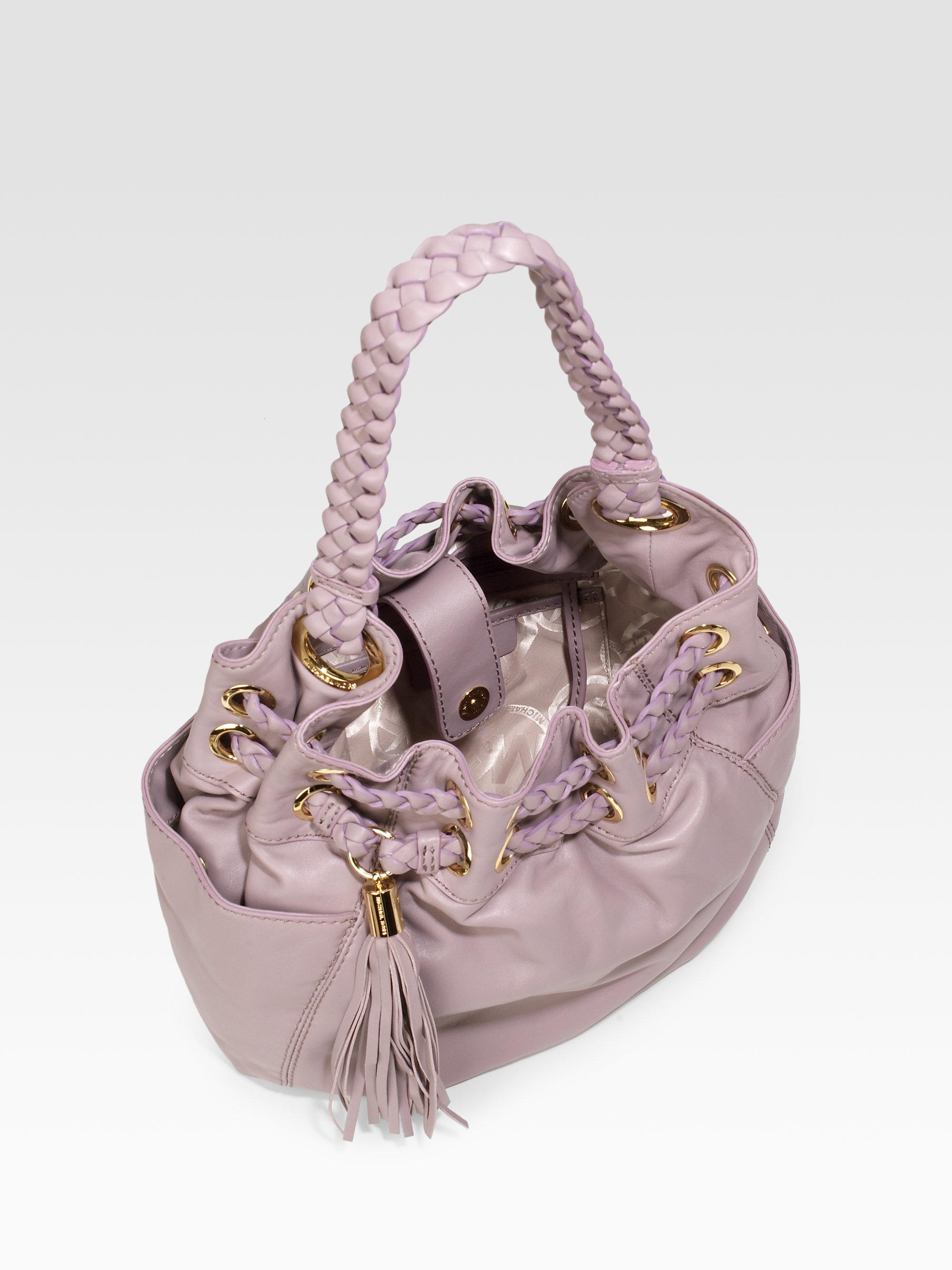 Lyst Michael Michael Kors Braided Astor Grommet Bag In