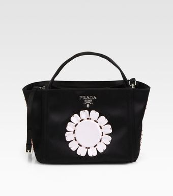 Prada Raso Flower Satin Basket Bag - Lyst