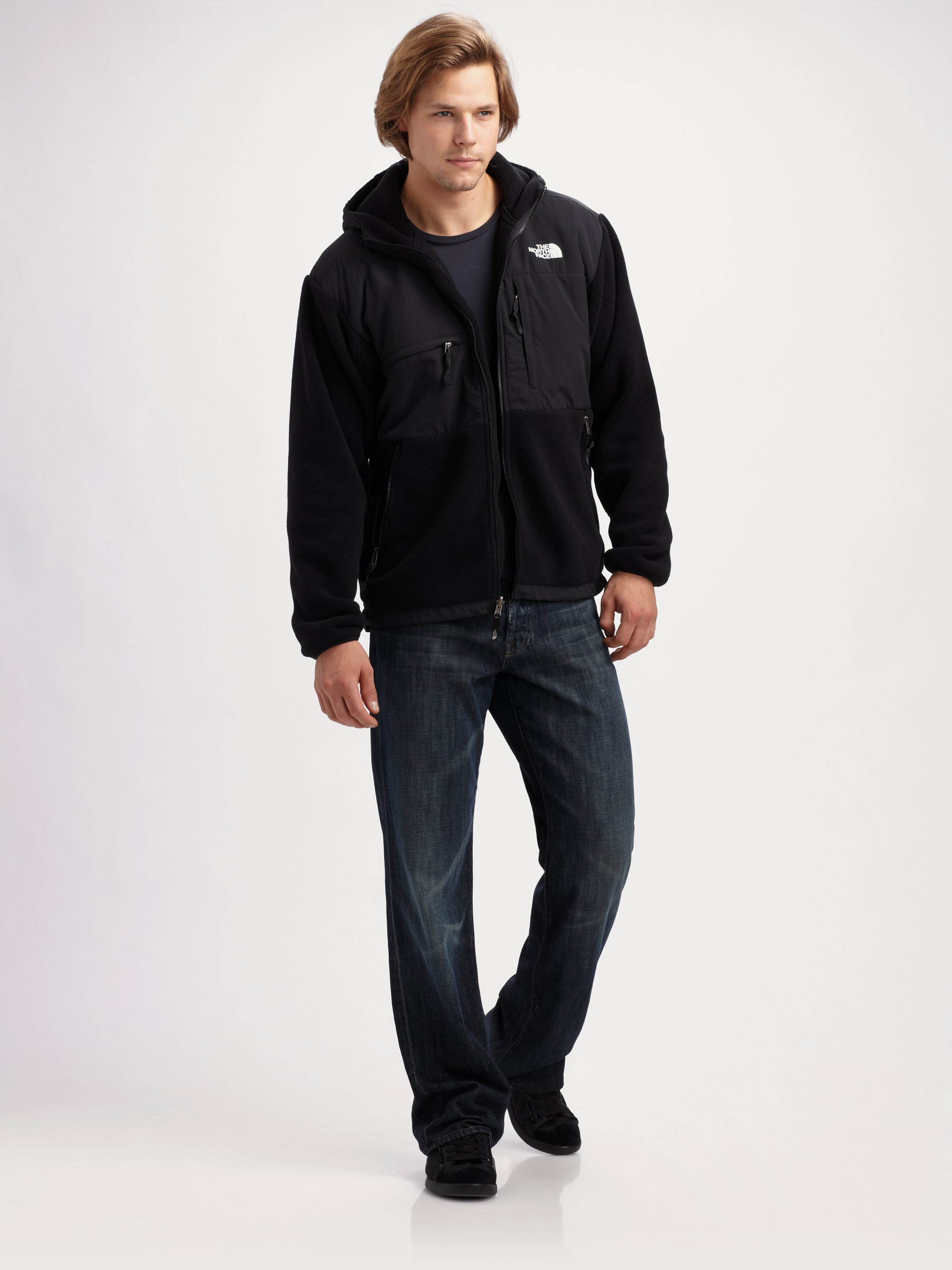 587b92b89229 ... spain coupon code for lyst the north face hooded fleece jacket in black  for men f62d6