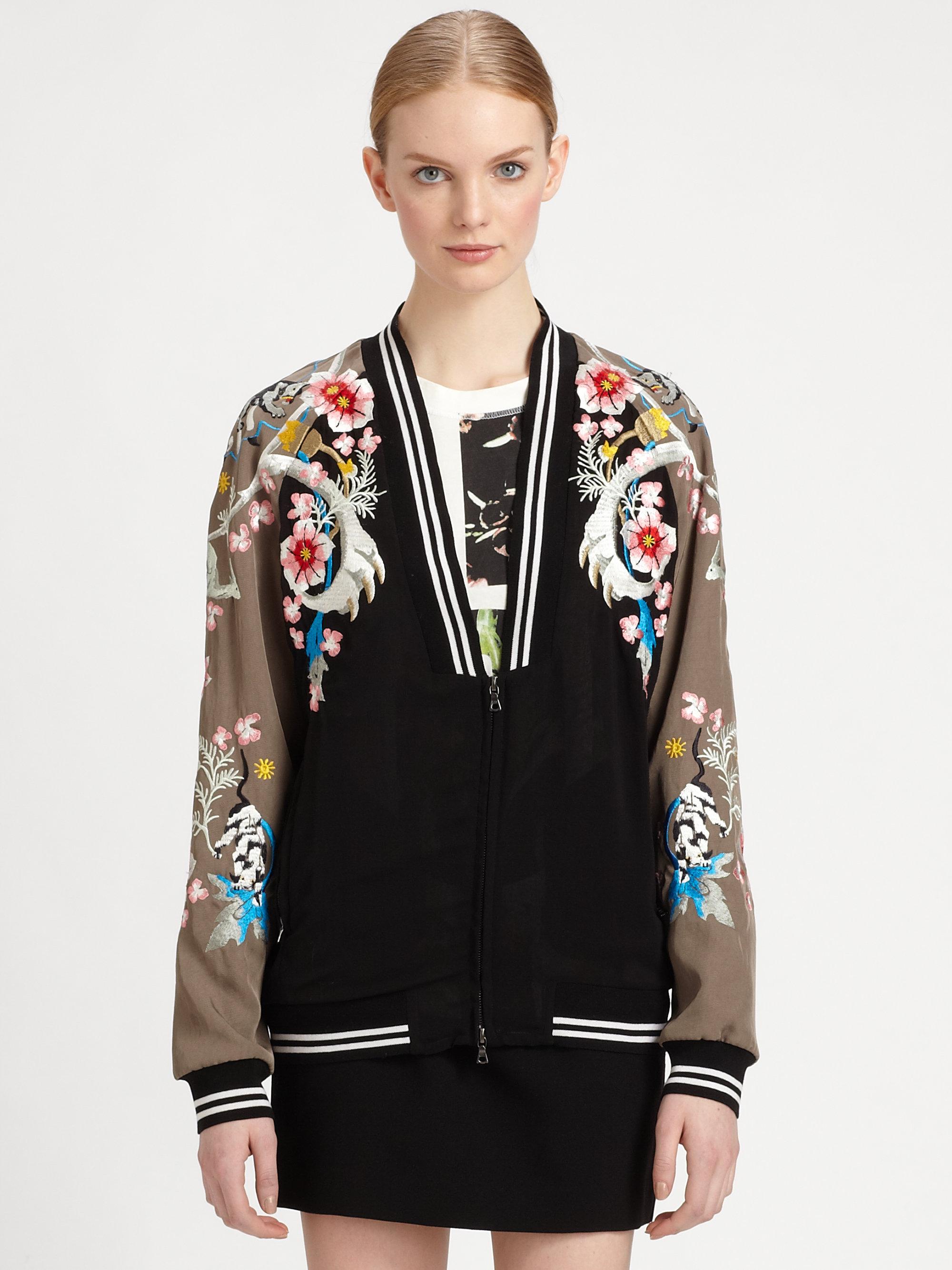 Lyst 3 1 Phillip Lim Embroidered Souvenir Jacket In Black