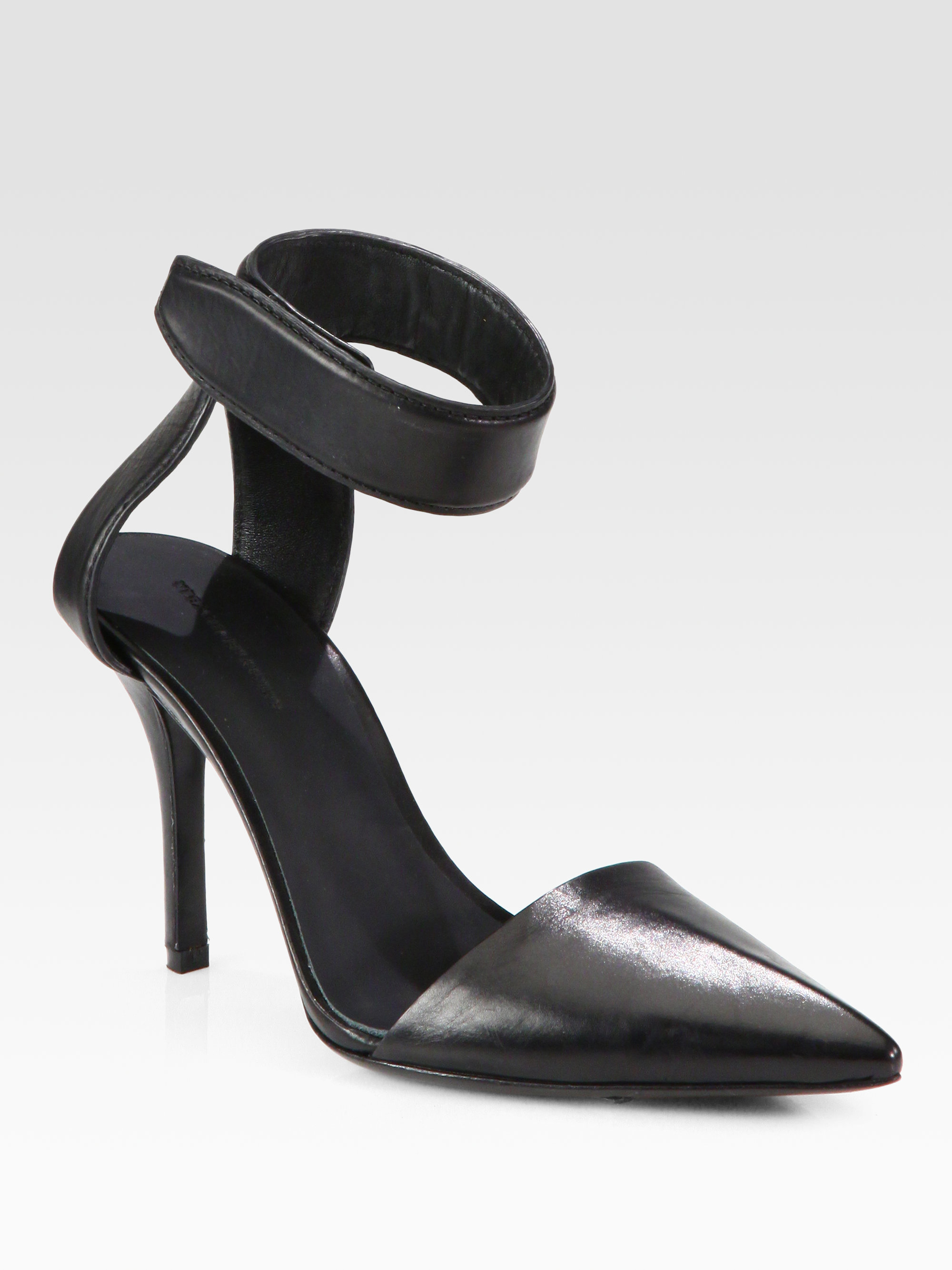 latest online cheap sale enjoy Alexander Wang Leather Ankle-Strap Pumps low shipping cheap online UQtslslhh