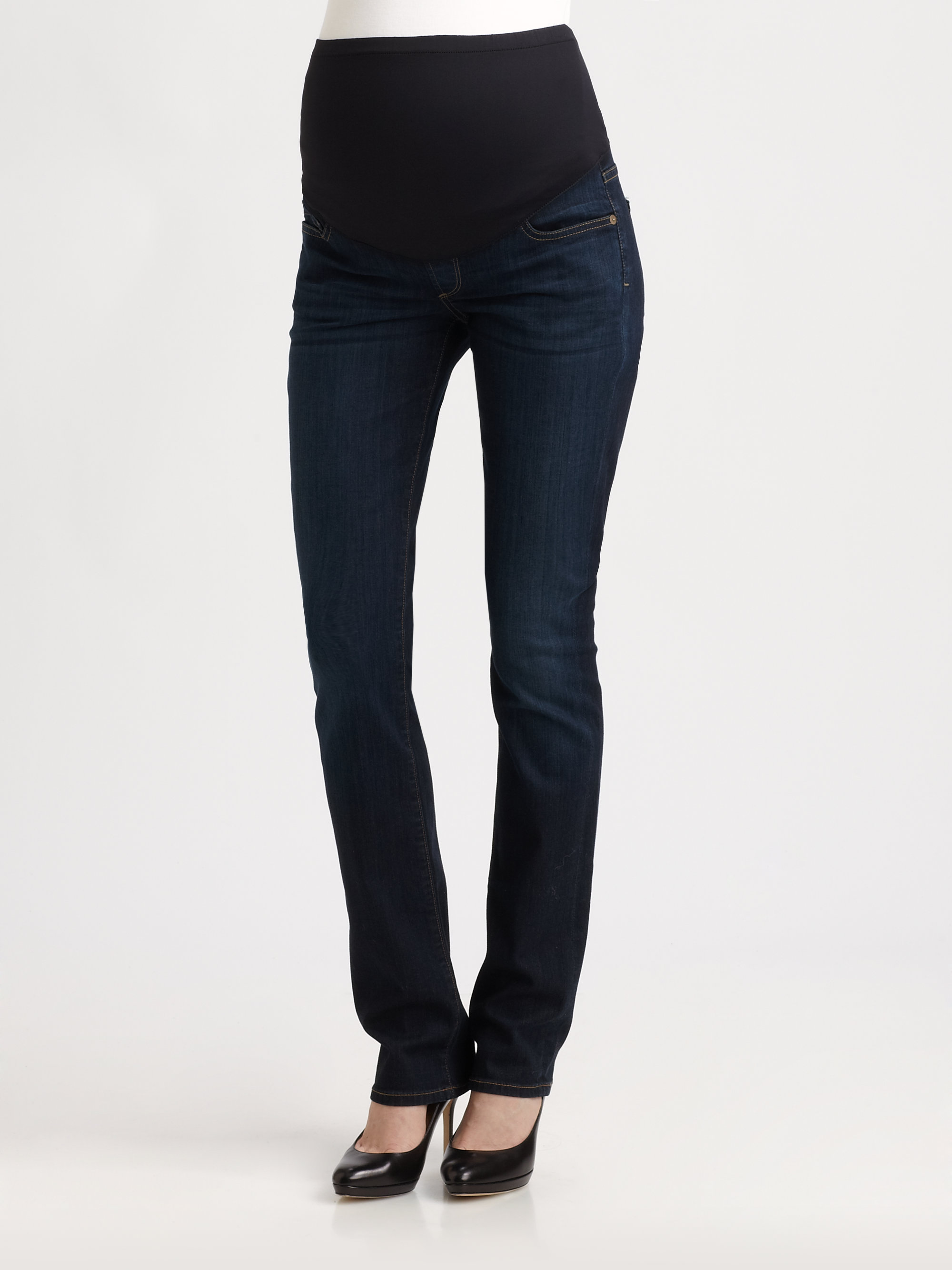 Citizens of humanity Ava Straight Leg Jeans in Black | Lyst
