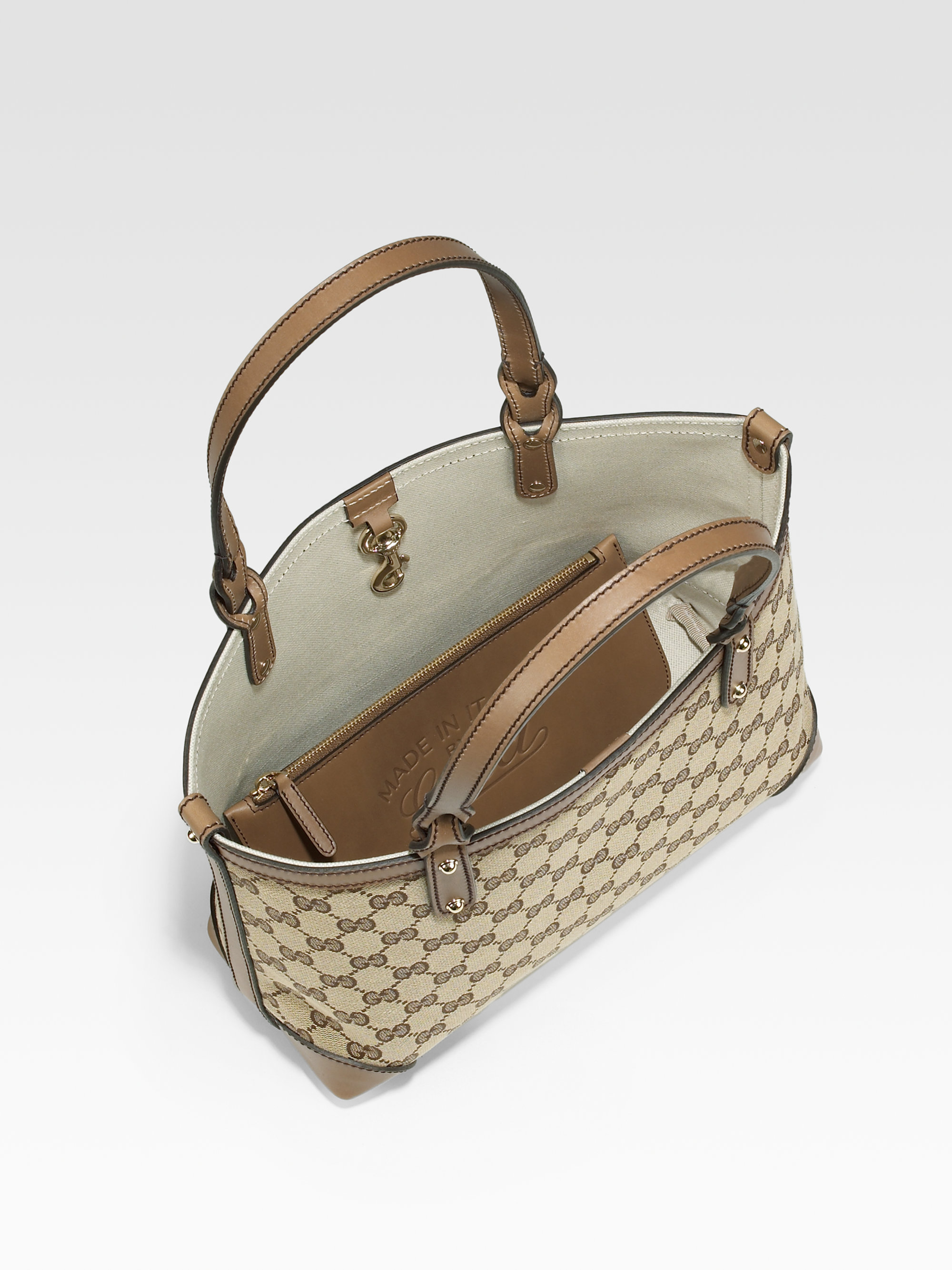 Gucci Craft Small Tote Bag in Natural   Lyst