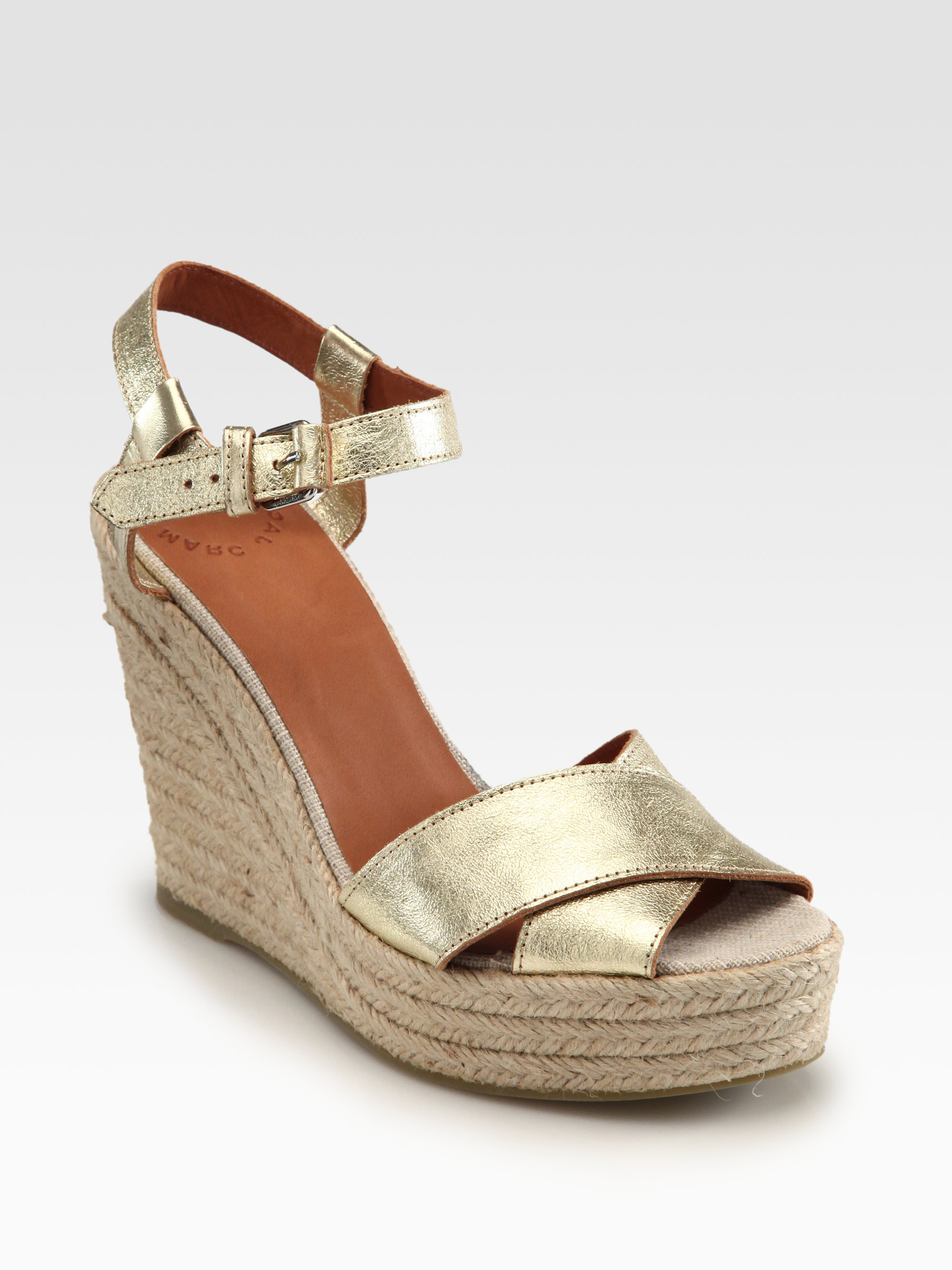 Marc By Marc Jacobs Metallic Leather Crisscross Espadrille