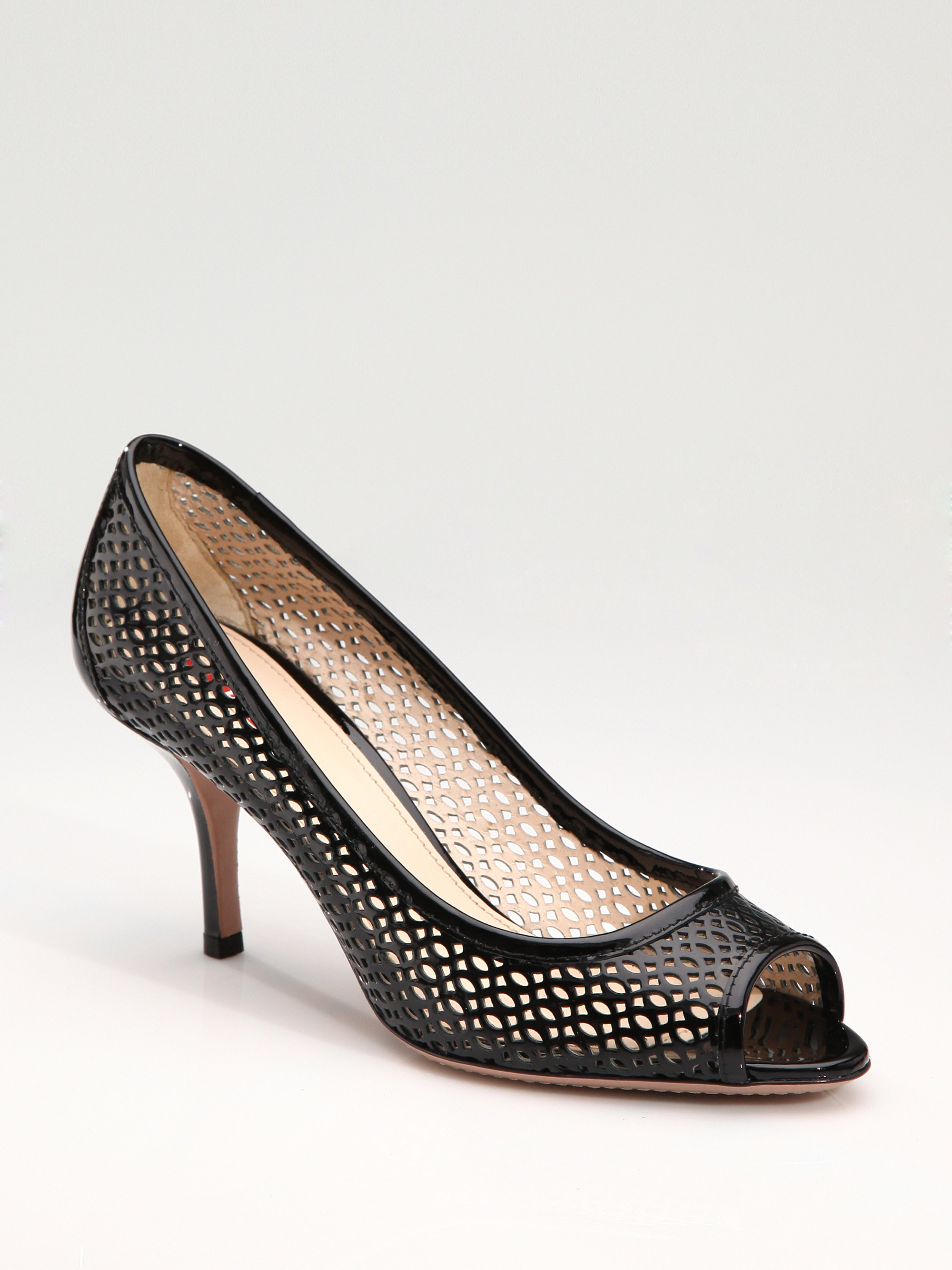 discount exclusive Prada Laser Cut Leather Pumps pictures cheap price great deals sale online sale best sale 0zBo7