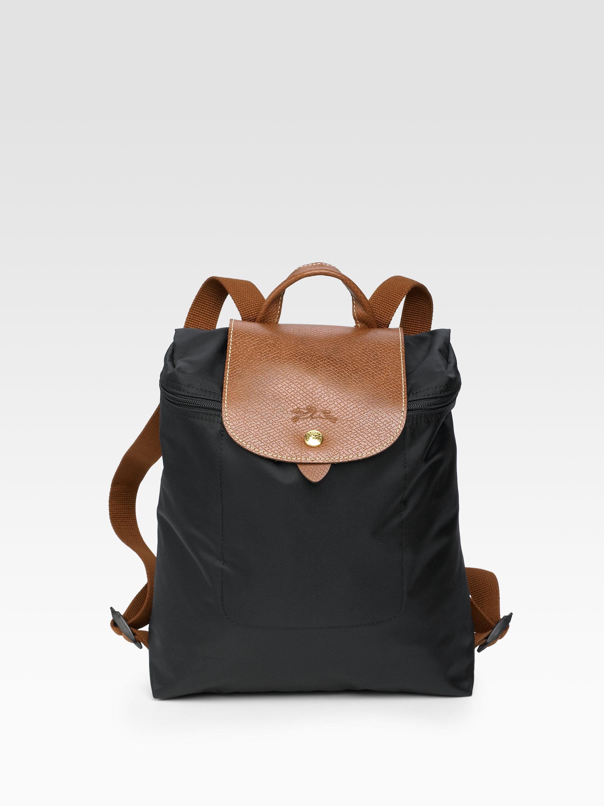 2ff3bfbaf884 Lyst - Longchamp Le Pliage Backpack in Black