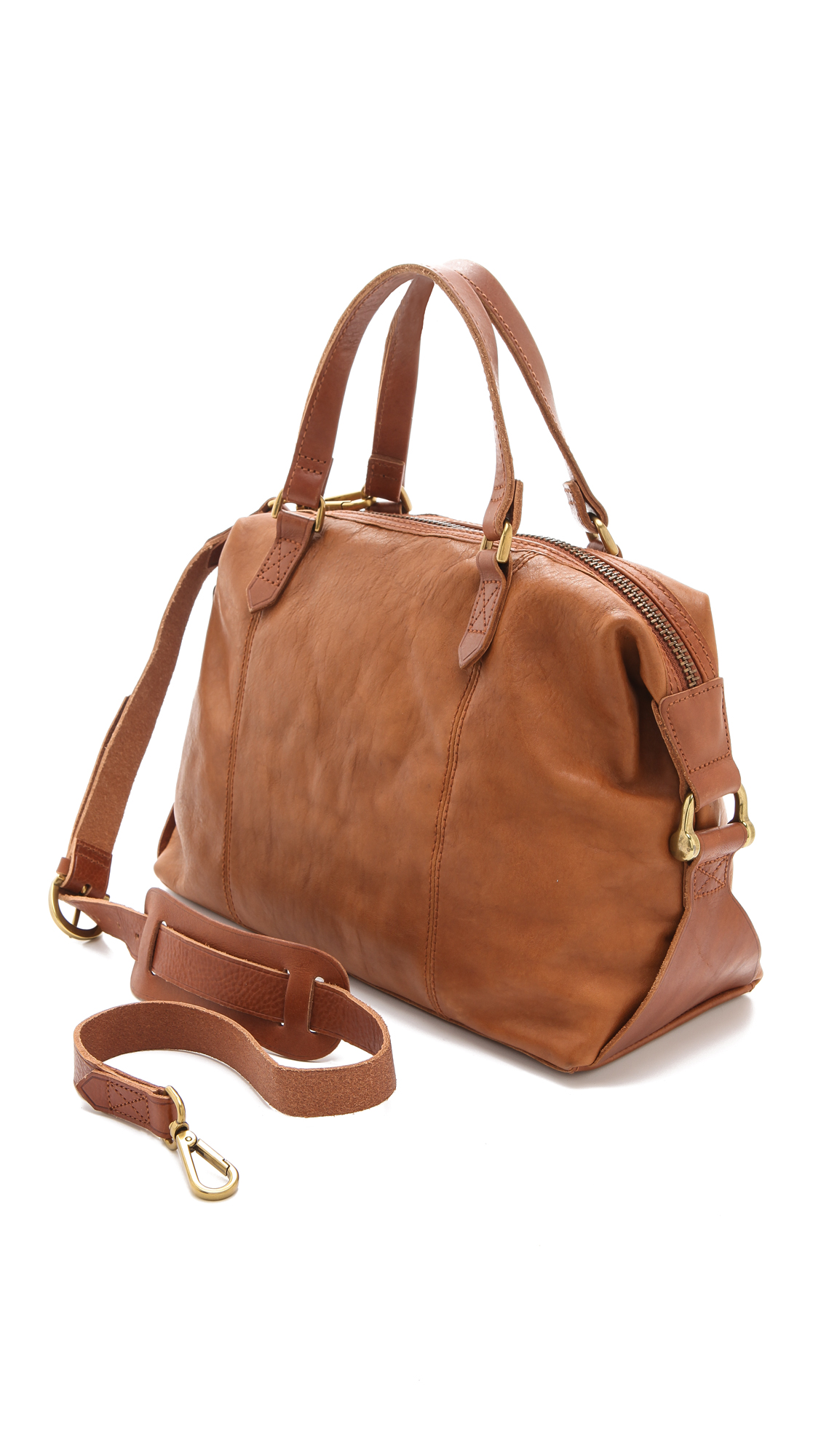 062cbc02cc0f Lyst - Madewell Leather Caravan Satchel in Brown