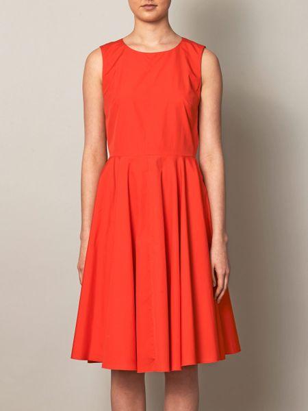 max mara studio ofido dress in red coral lyst. Black Bedroom Furniture Sets. Home Design Ideas