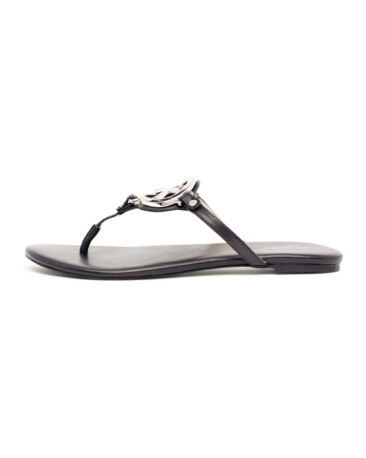 65f6bbbda48b9 Lyst - Michael Kors Melodie Logo Thong Sandals in Black