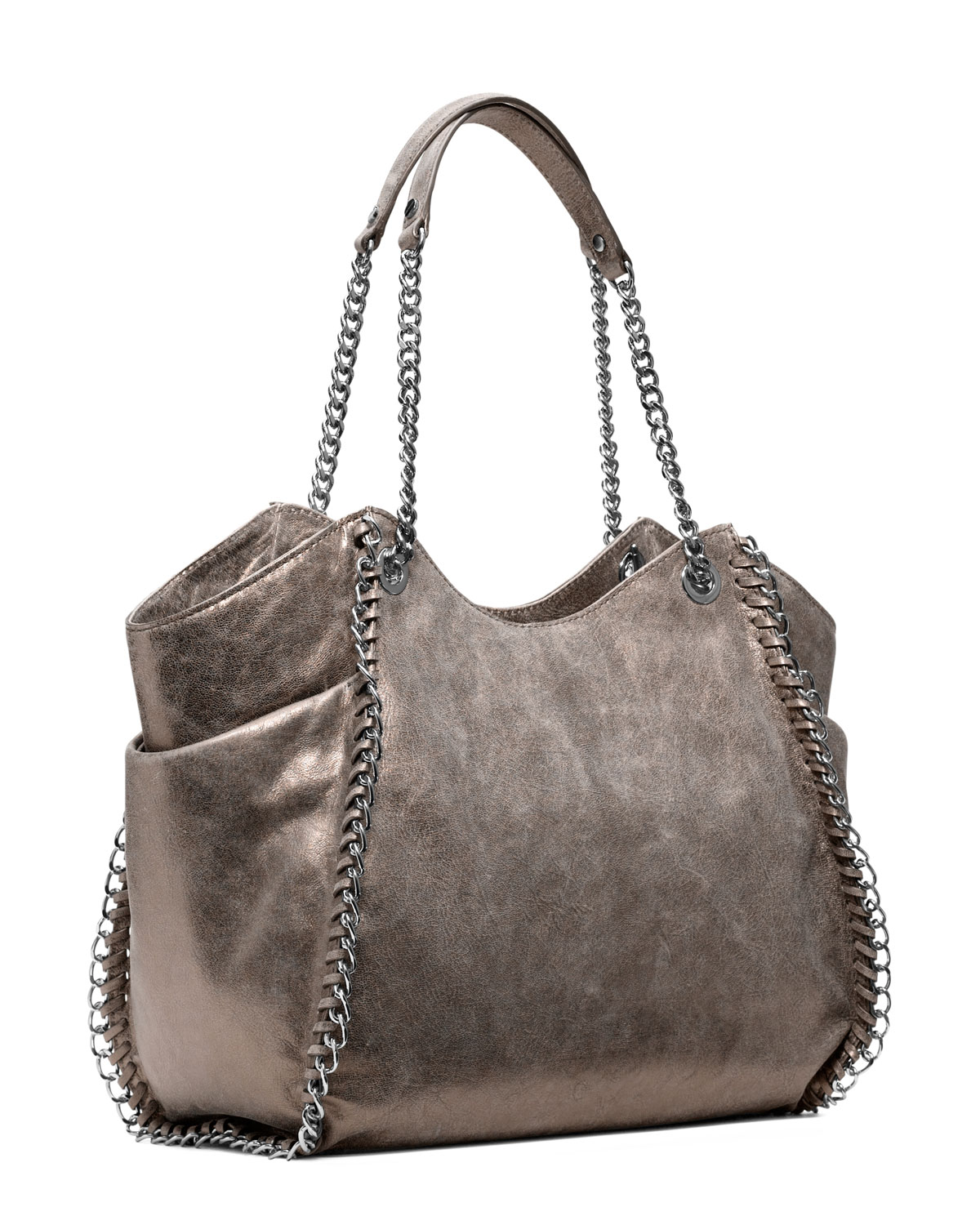 7f8e2fb0ee10 ... good lyst michael kors large chelsea metallic tote in metallic 988e0  c6f11
