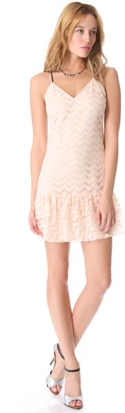 Milly Chevron Tulle Dress - Lyst
