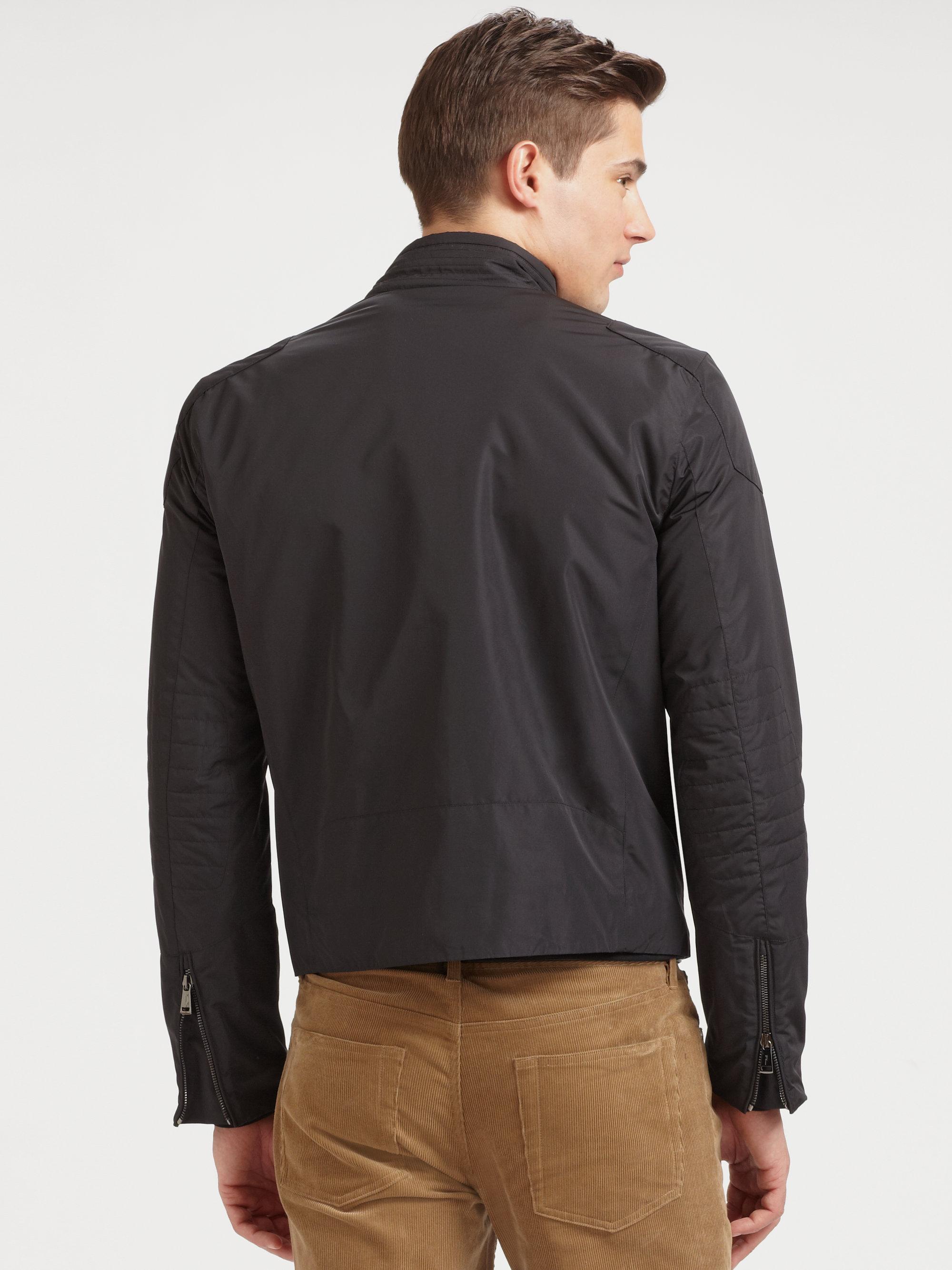 ralph lauren black label classic cafe biker jacket in. Black Bedroom Furniture Sets. Home Design Ideas