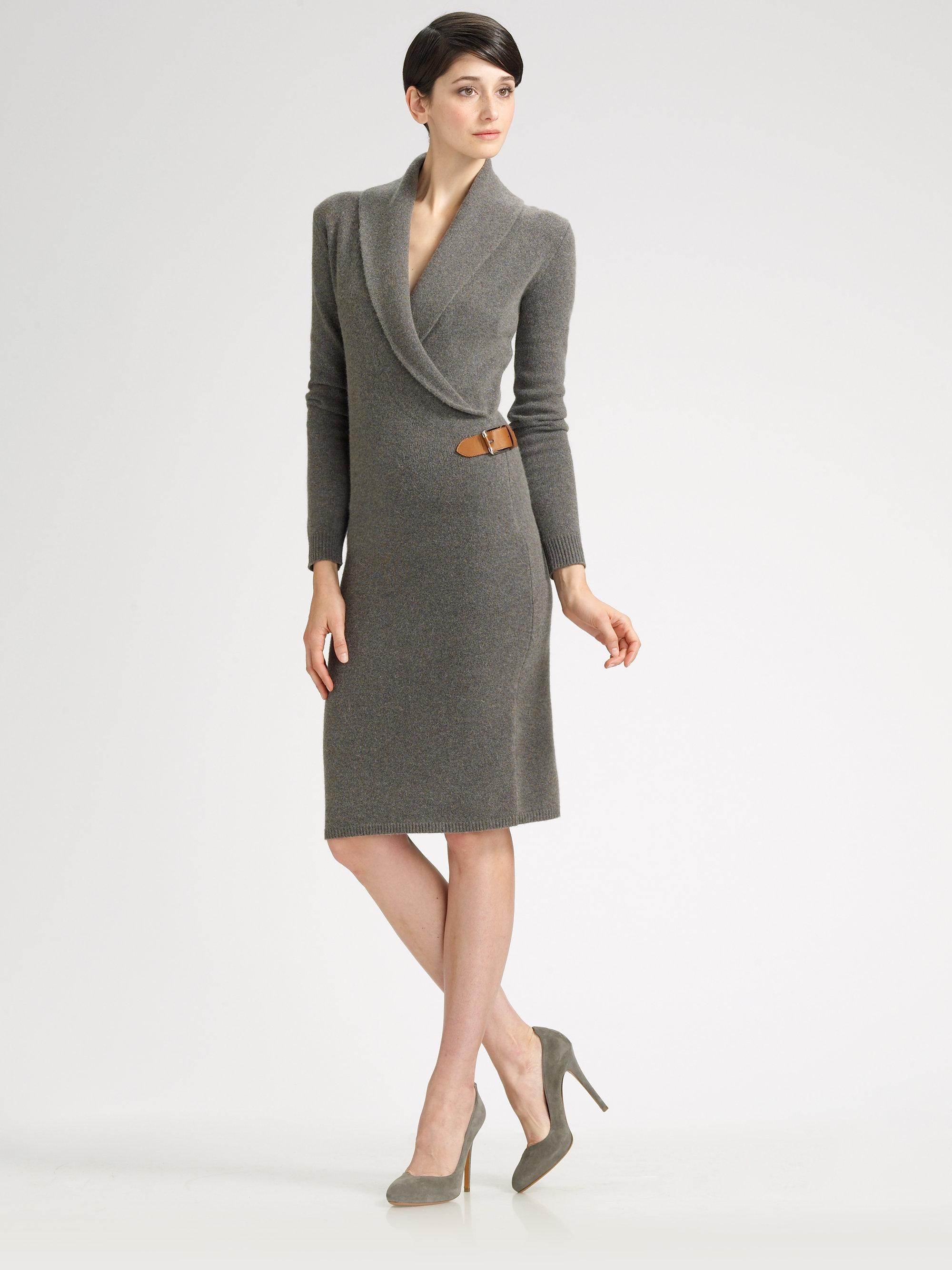 Lyst Ralph Lauren Black Label Harper Stretch Wool Dress