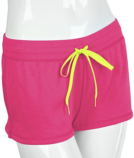 Steve Madden French Terry Lounge Shorts in Pink (hot pink)