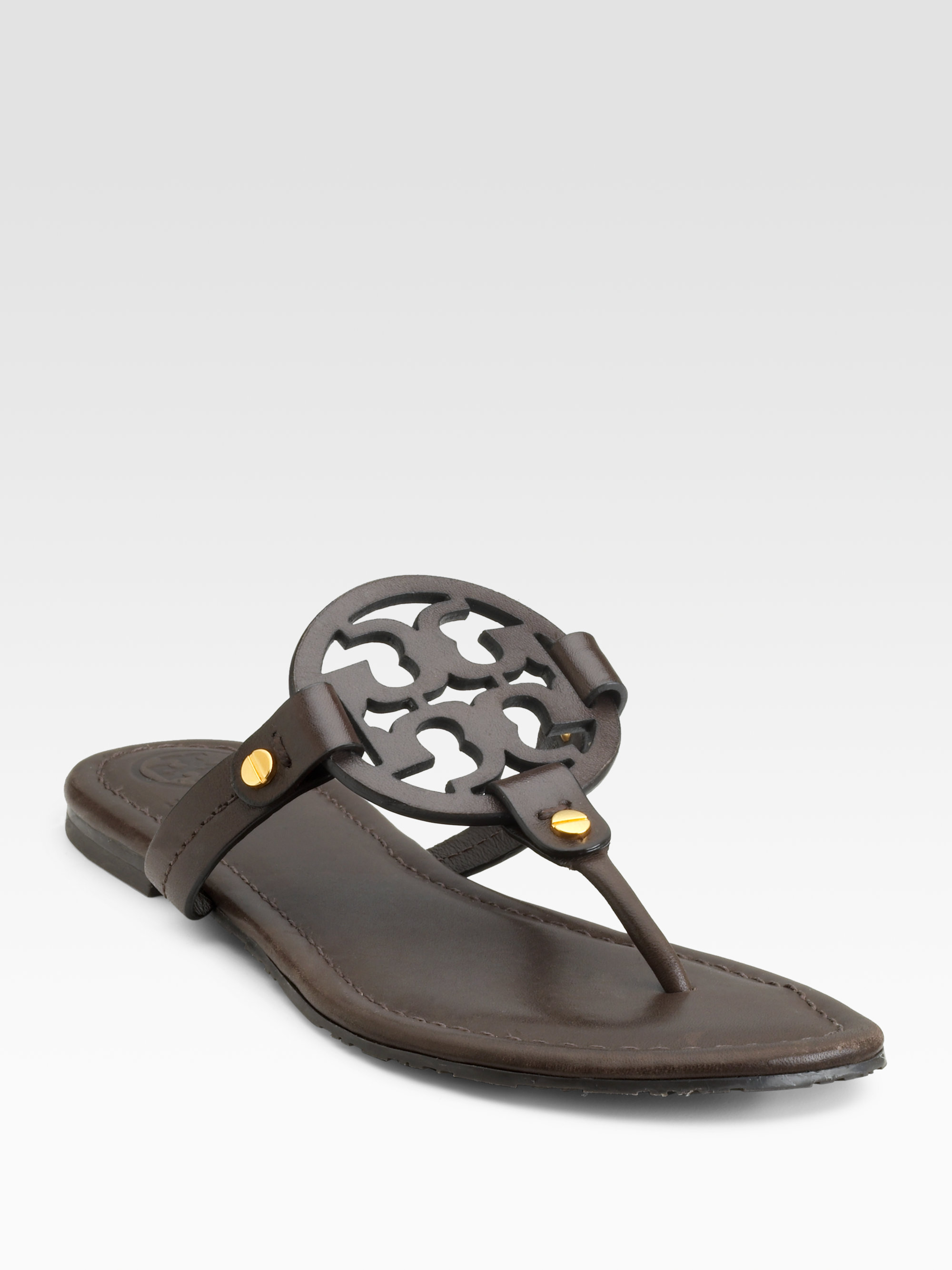 367563ce2a43 Lyst - Tory Burch Miller Thong Sandals in Brown