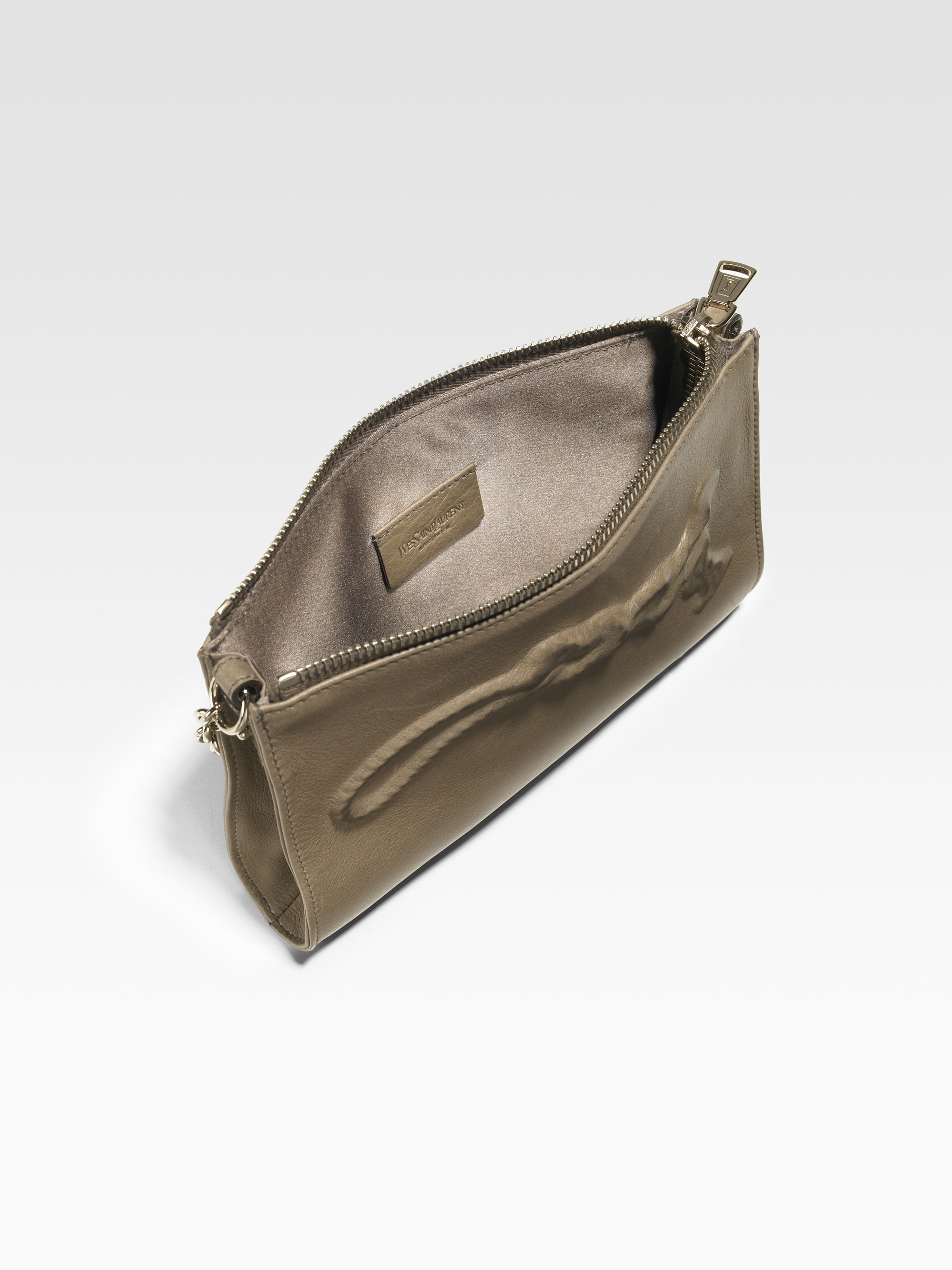 4991b2f31598 yves saint laurent look - Saint laurent Mini Charm Leather Bag in Gray  (grey)