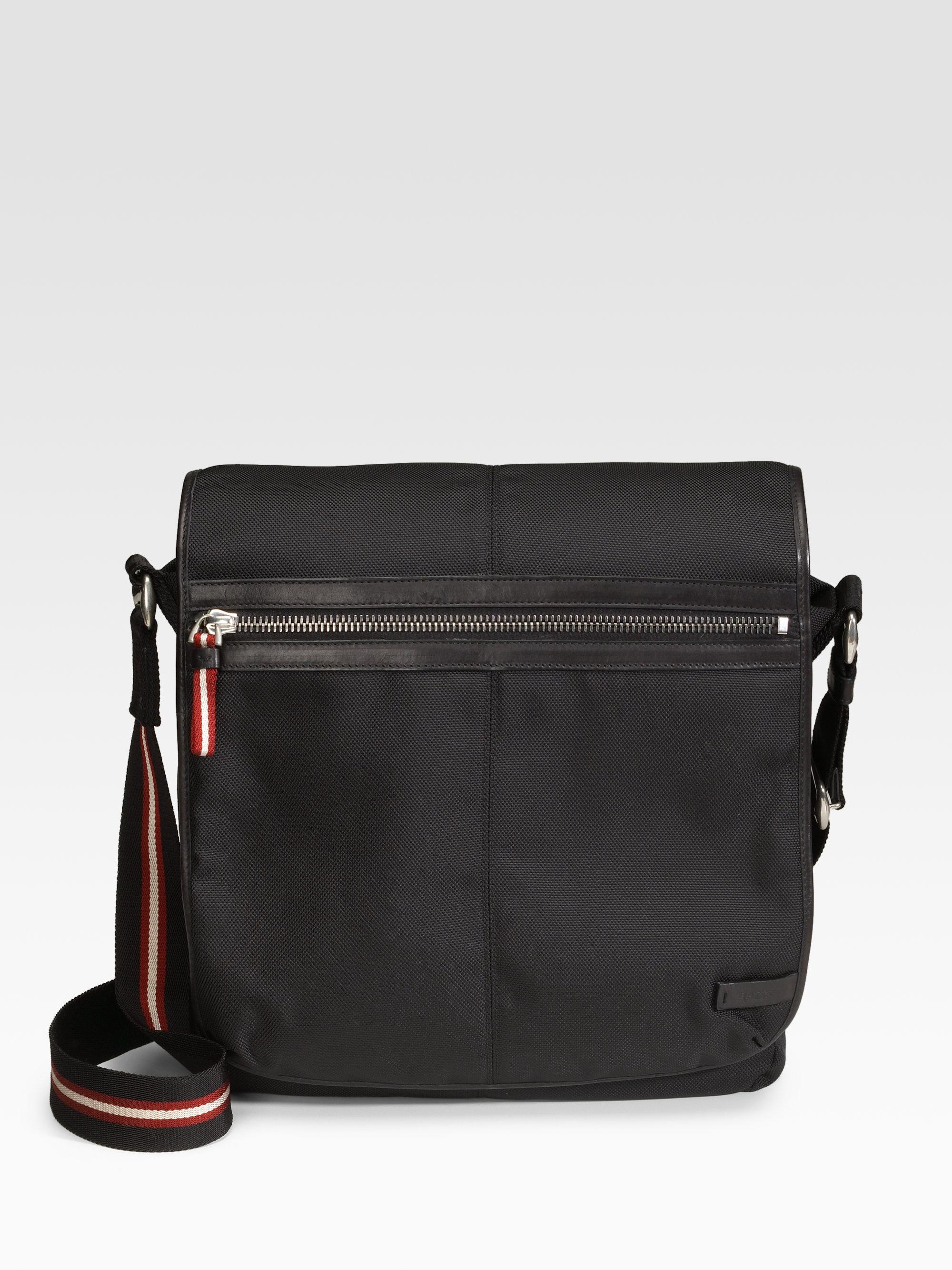 Bally Nylon Messenger Bag In Black For Men Lyst
