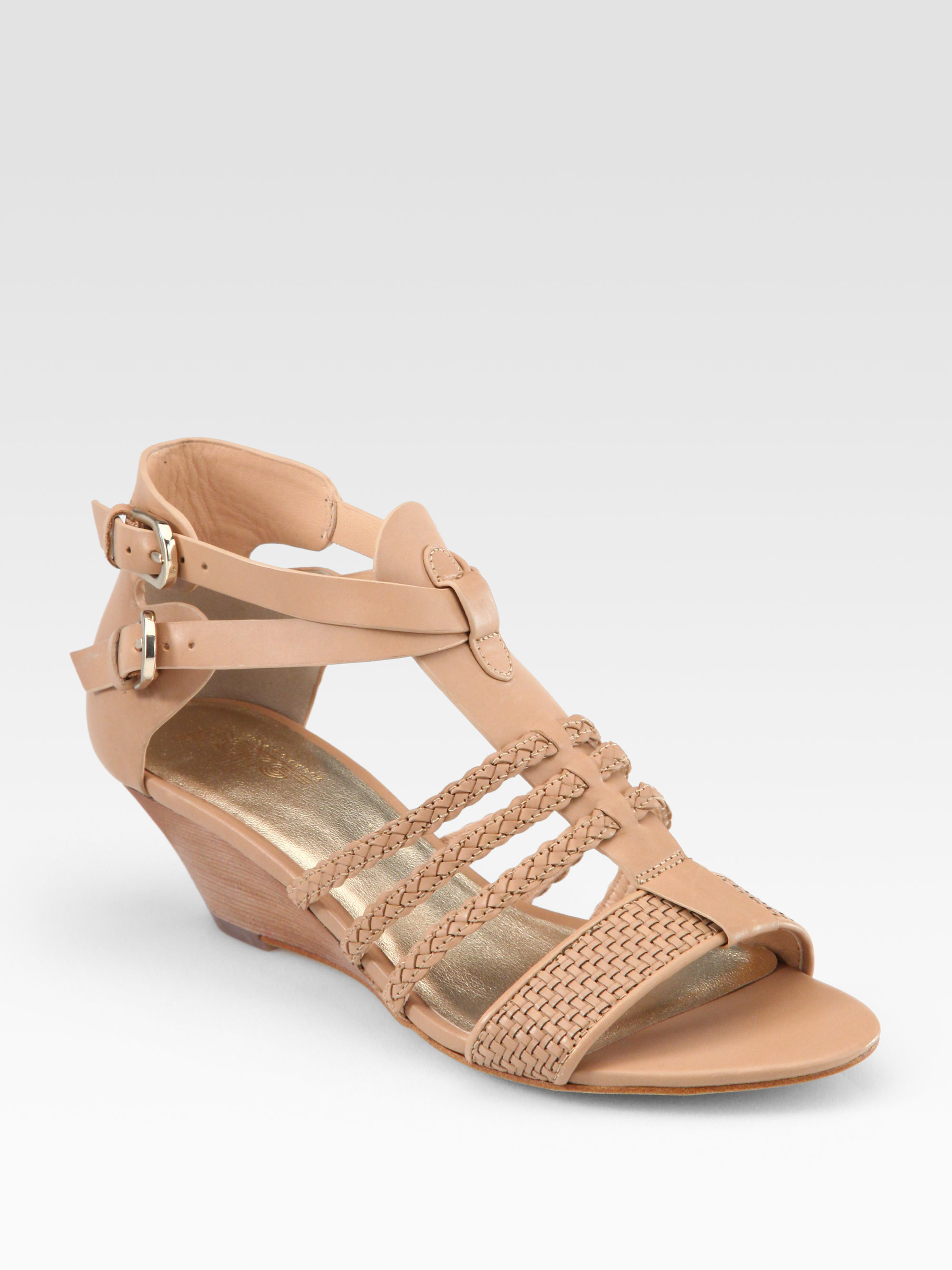 clearance under $60 Sigerson Morrison Woven Leather Wedges buy cheap deals QWmO73