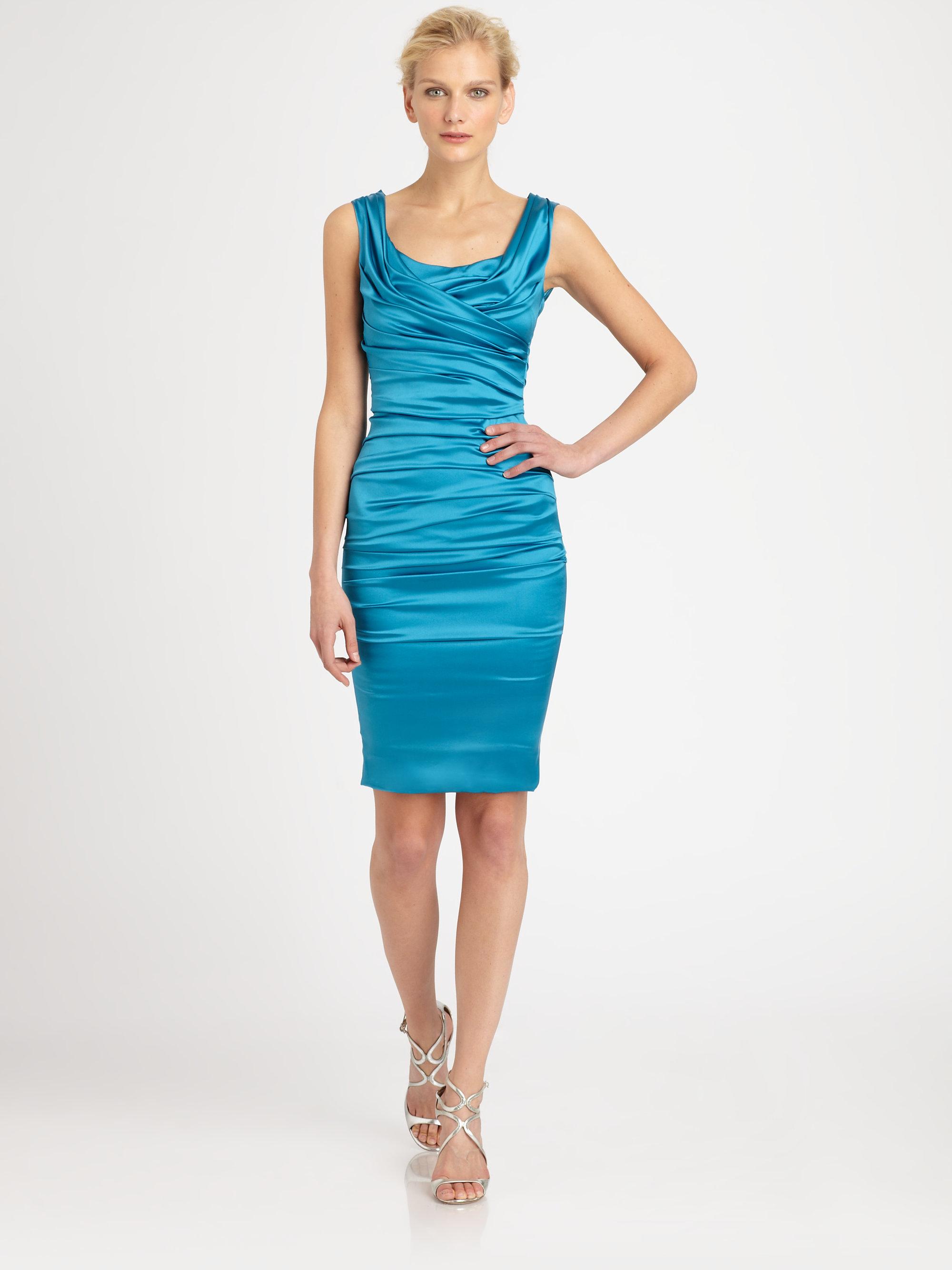 Lyst Dolce Amp Gabbana Silk Satin Dress